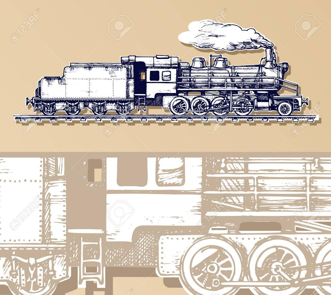 vintage train. - 35315167