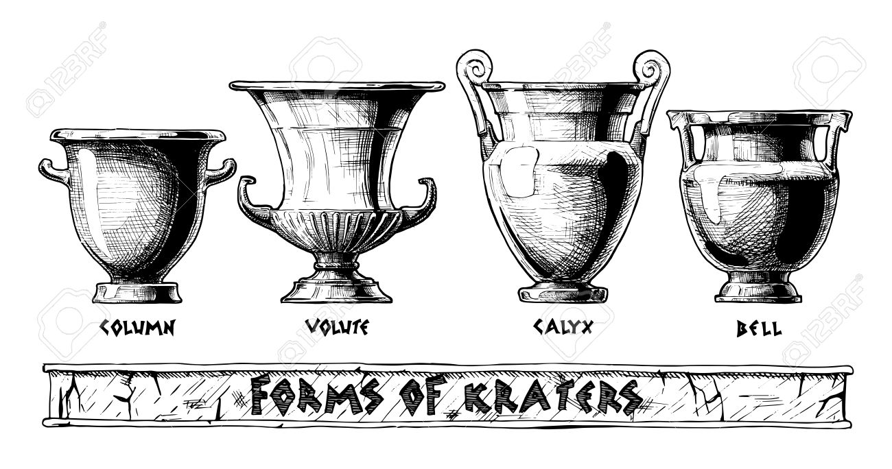 Vector hand drawn sketch of ancient greek vases set in ink hand vector hand drawn sketch of ancient greek vases set in ink hand drawn style forms reviewsmspy