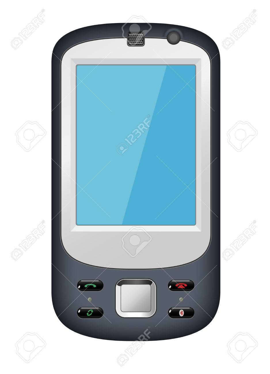 mobile phone with blue screen Stock Vector - 8559433