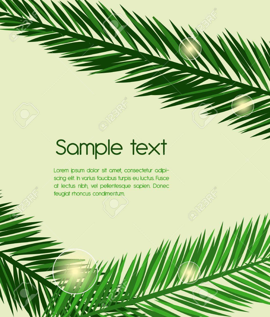Abstract background with green leafs Stock Vector - 9393848