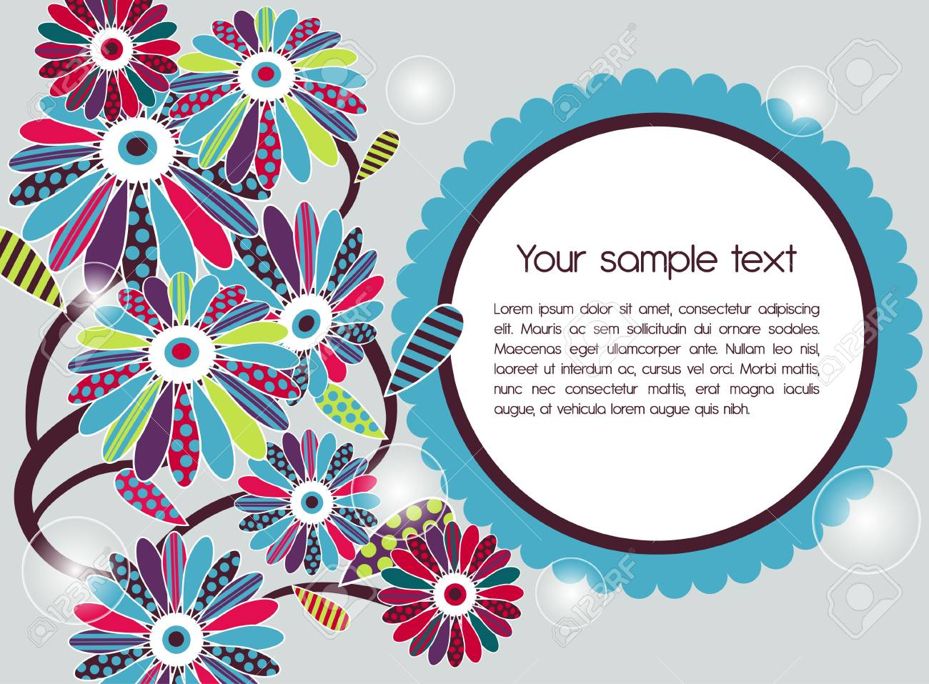 Abstract vector background with flowers Stock Vector - 9492476