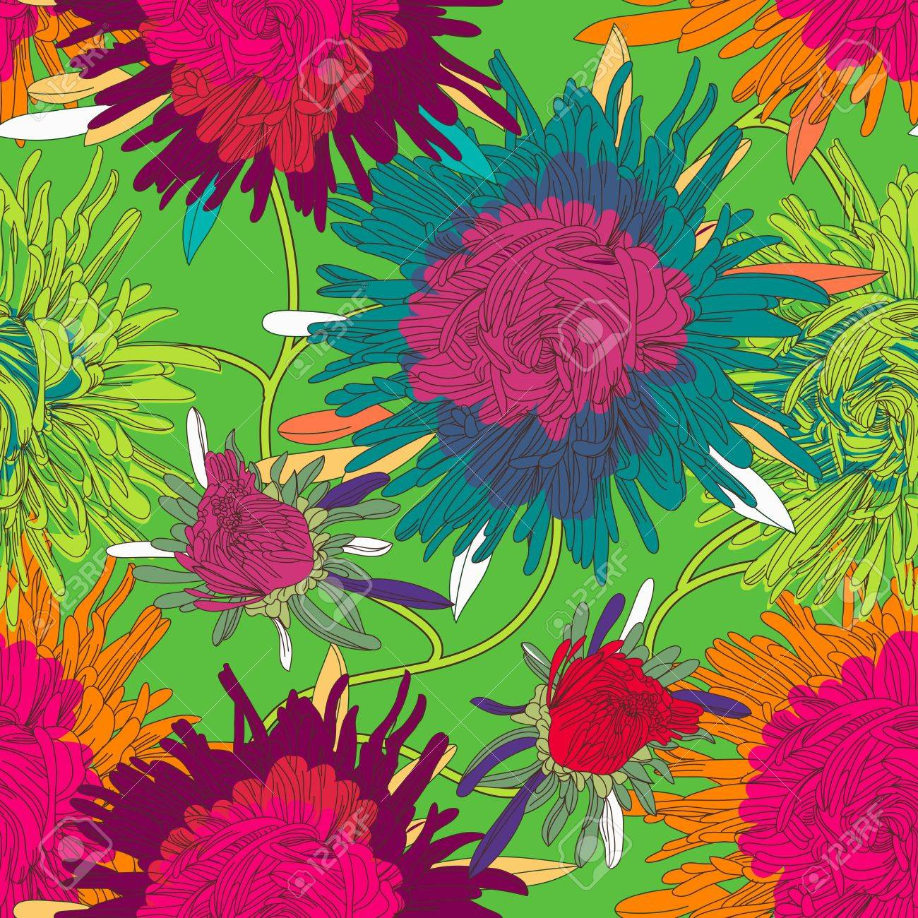 Seamless  texture with flowers Stock Vector - 16416843