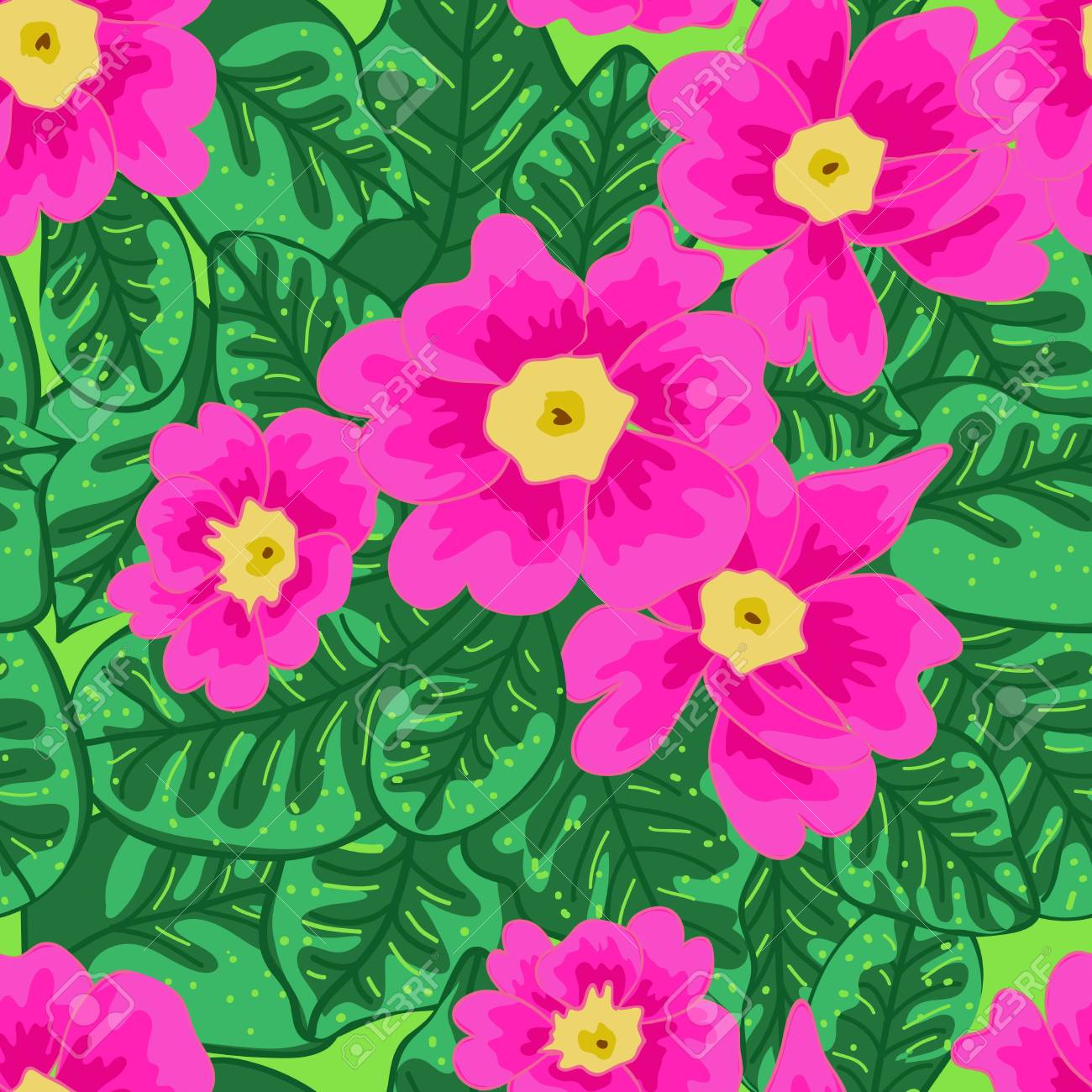 Seamless vector texture with drawing flowers Stock Vector - 16534817