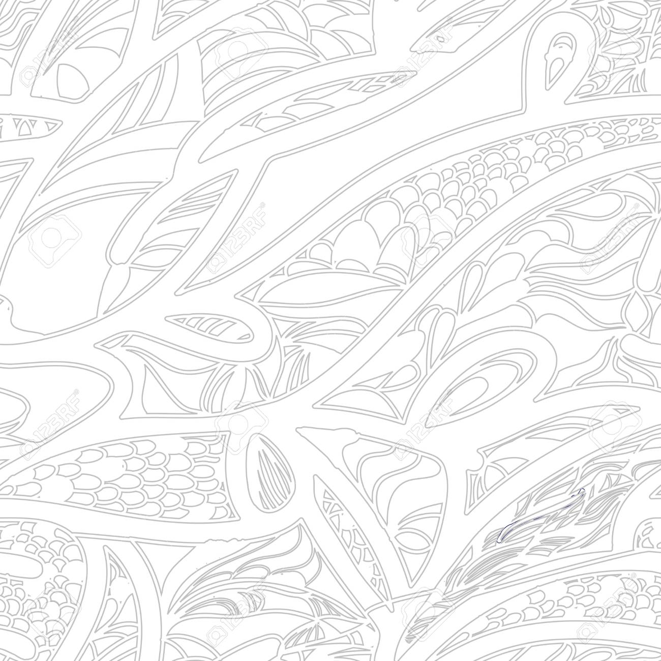 Monochrome seamless vector pattern with swirls Stock Vector - 16534850