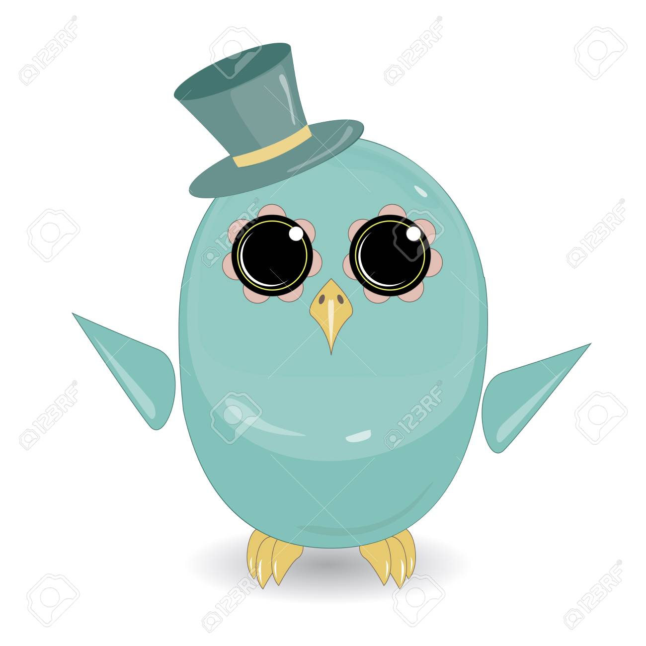 Funny bird cartoon character Stock Vector - 79785629 ee9266b0757c