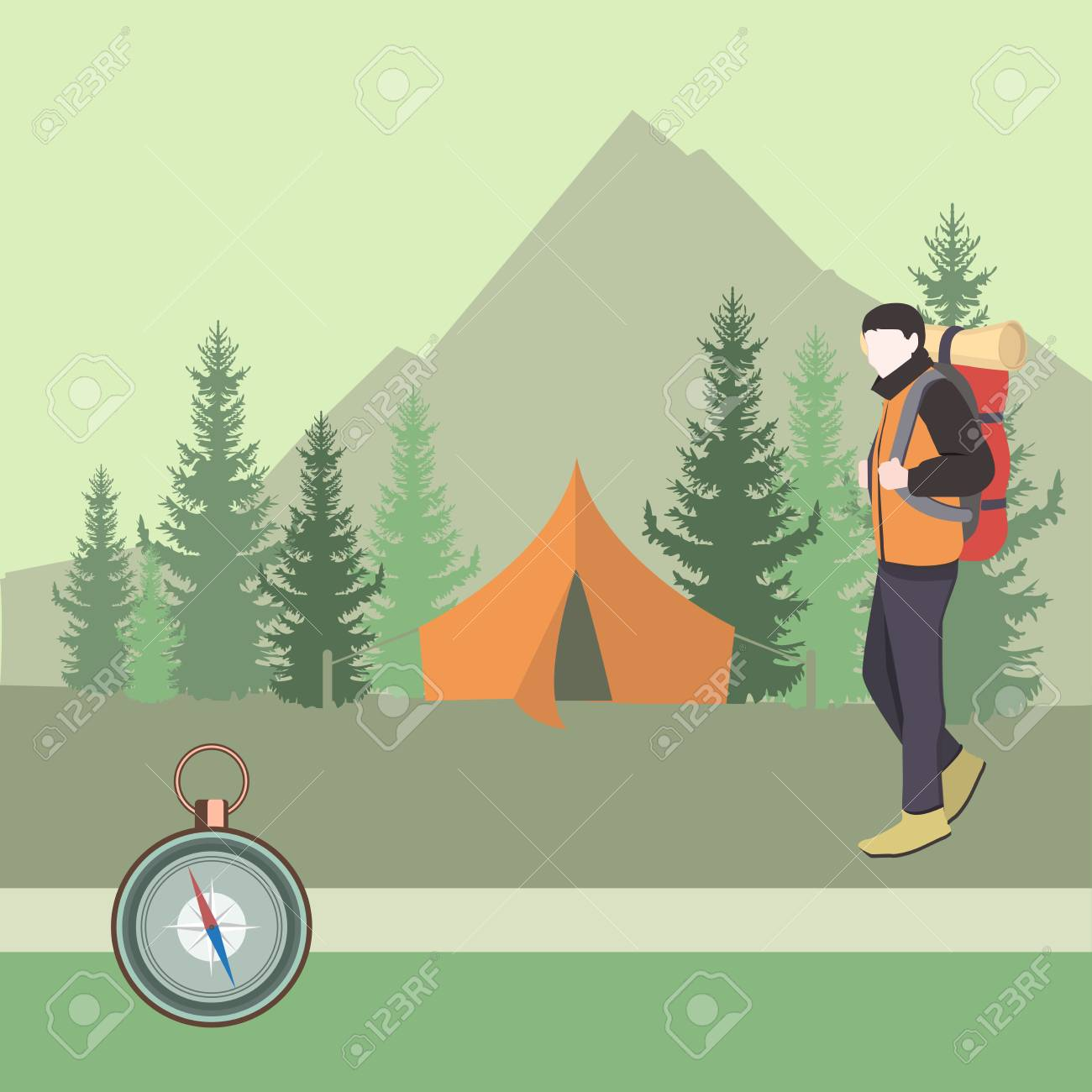 Touristique Homme De Camping Quipement Sac Dos Dans Camper Avec À EWHWqaf1T