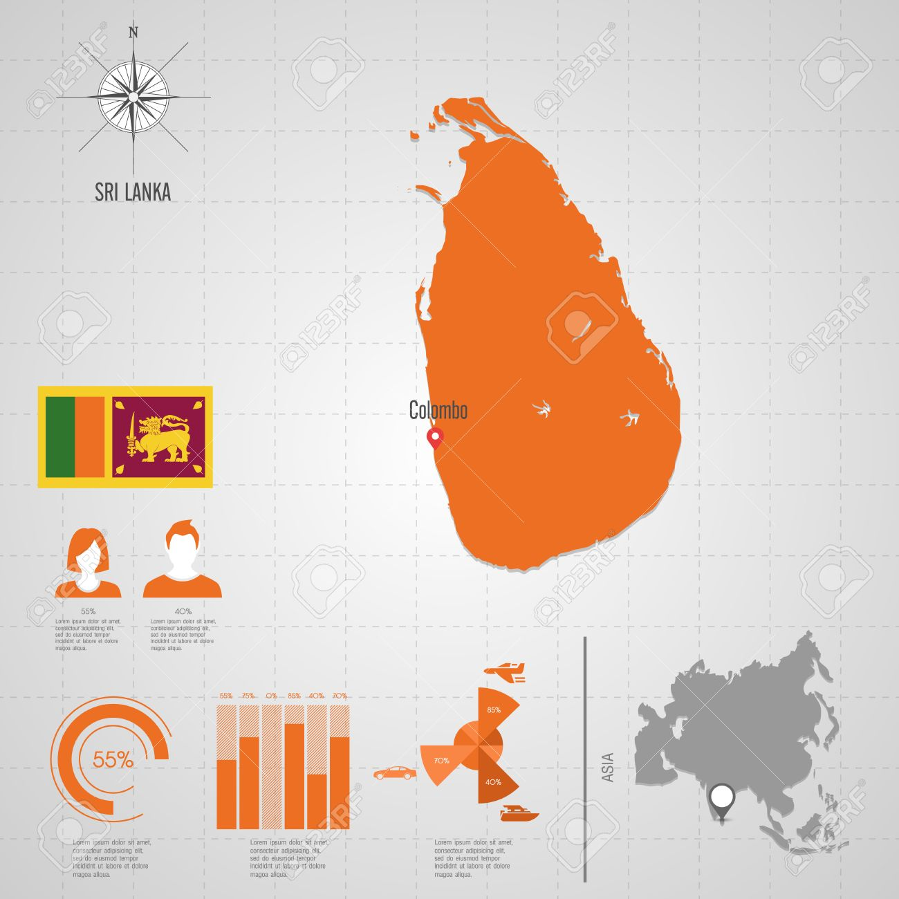 Republic of sri lanka flag asia world map travel vector royalty free republic of sri lanka flag asia world map travel vector stock vector 30395867 gumiabroncs Images