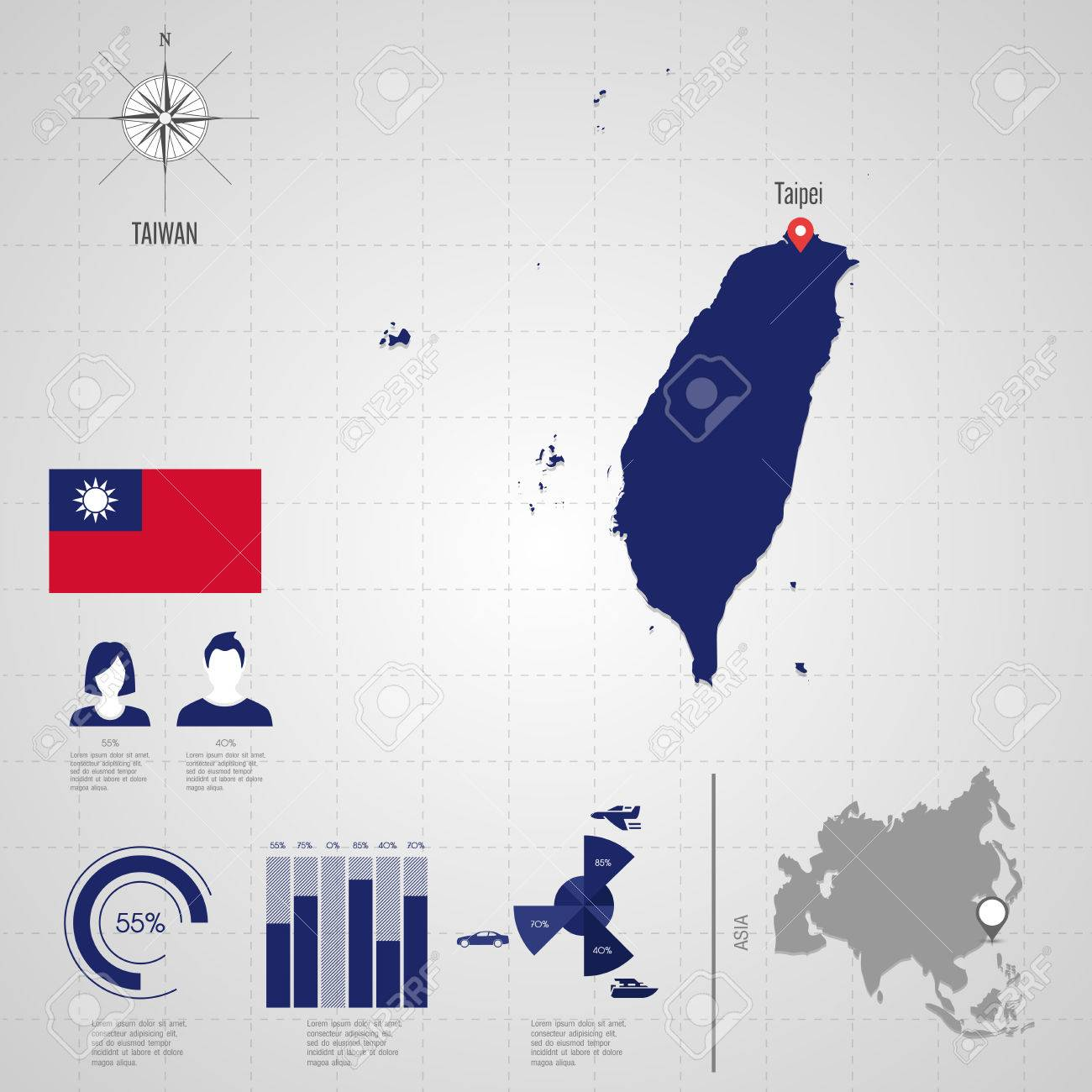 Republic of taiwan flag asia world map travel vector royalty free republic of taiwan flag asia world map travel vector stock vector 30395926 gumiabroncs Image collections