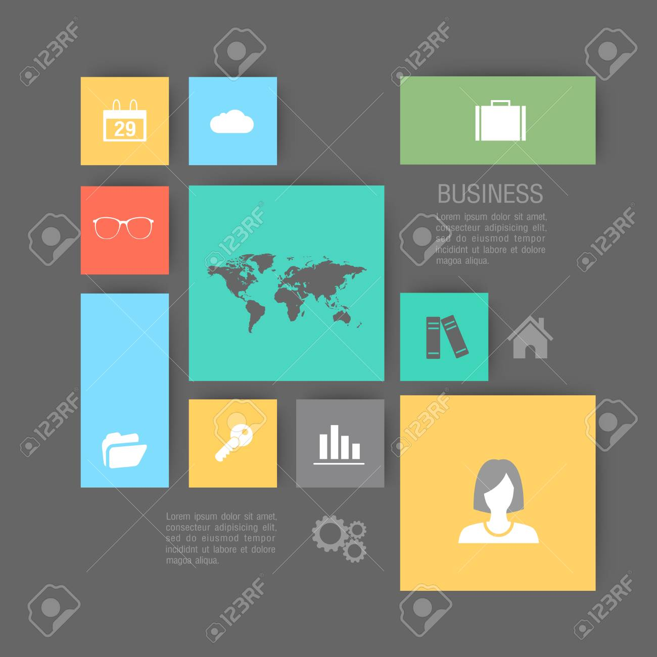 Modern flat icons vector collection business. - 40592525