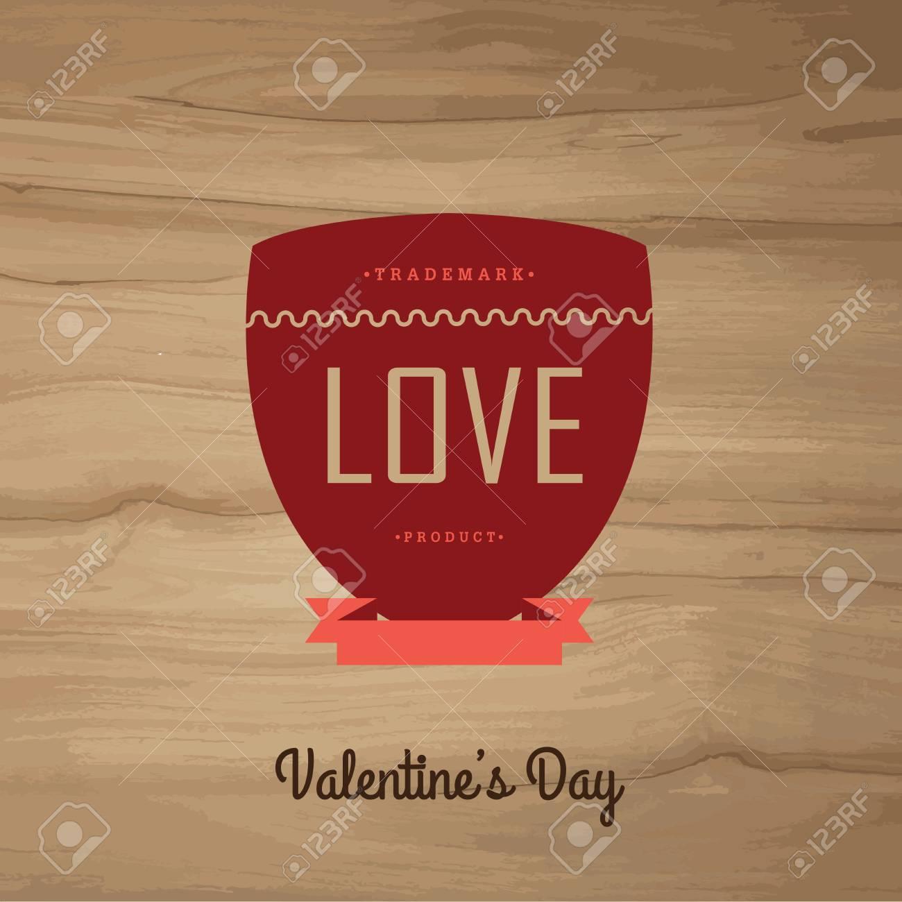 Etiquetas De La Vendimia DayVector Establecer Valentín Ilustraciones ...