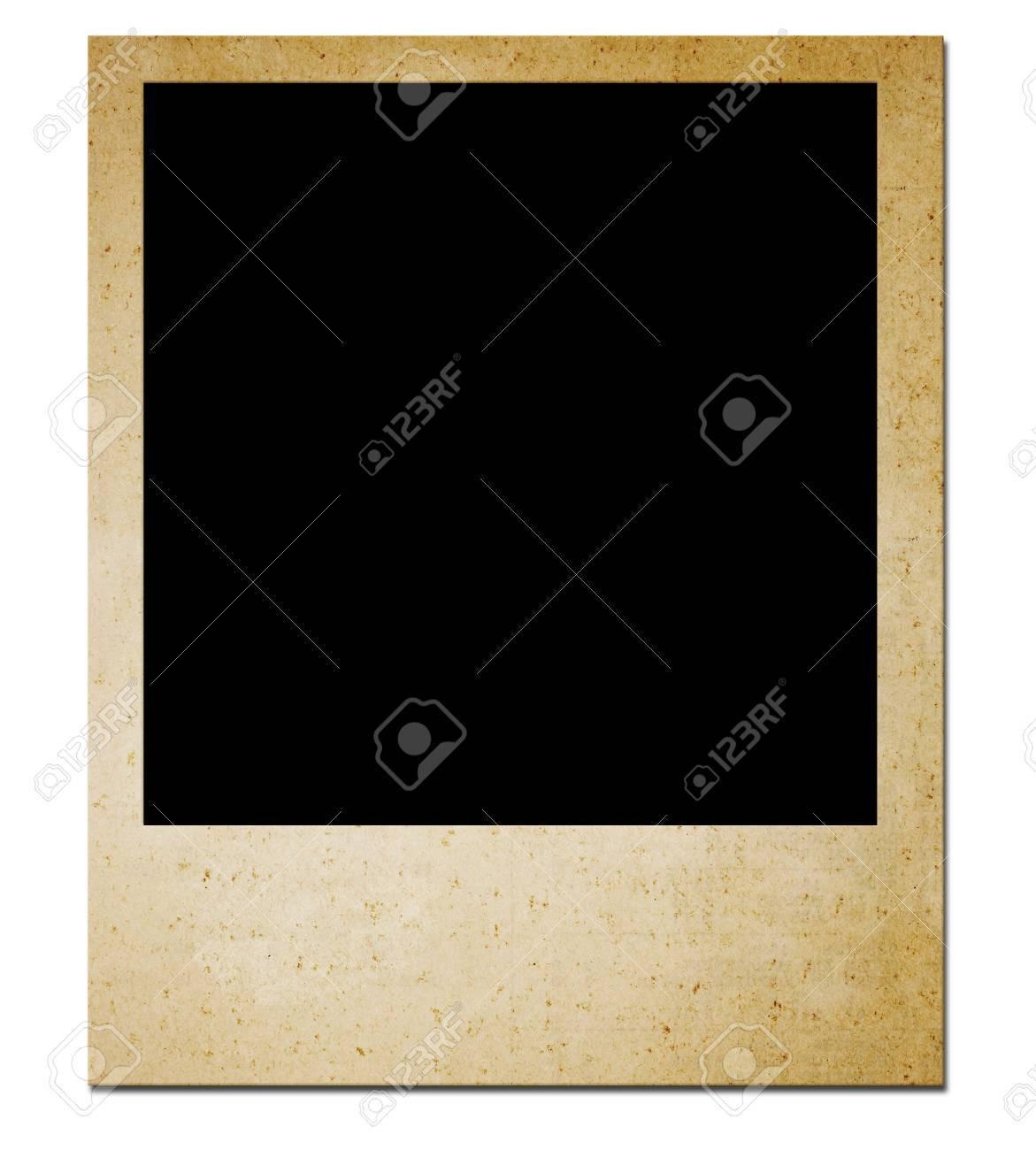 Isolated: Blank photo  on white Stock Photo - 8584771