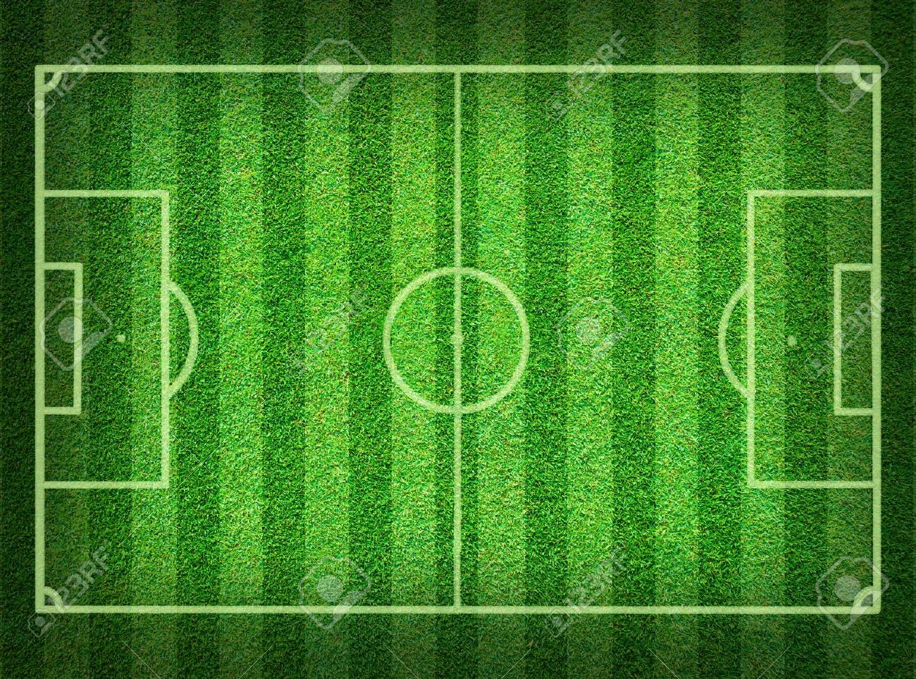 Real green grass soccer field background Stock Photo - 9520052
