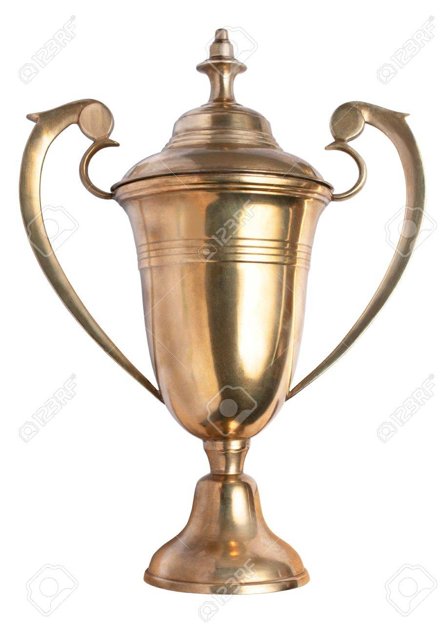 Real Gold Metal Trophy Stock Photo