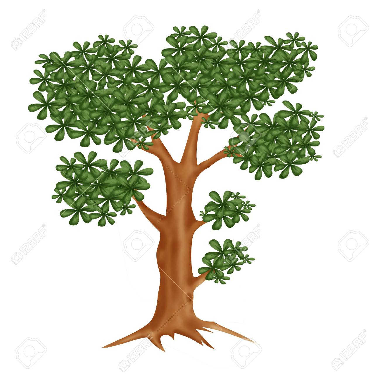 Tree with green leafag Stock Photo - 9733529