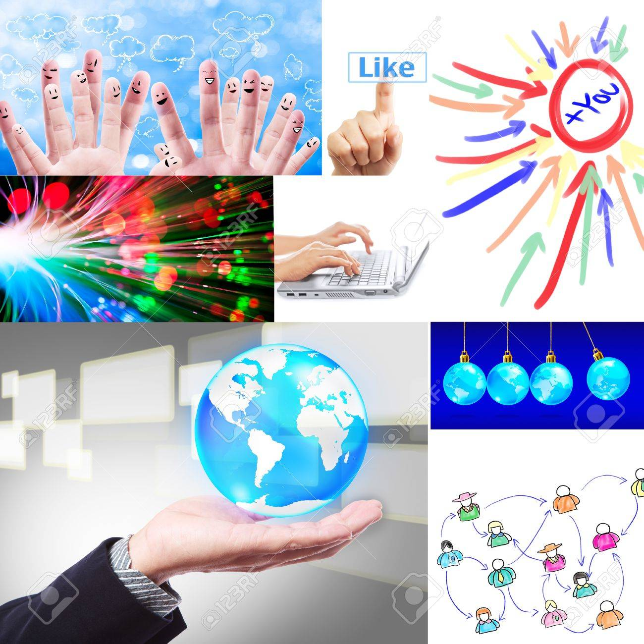 social network collage set Stock Photo - 11964709