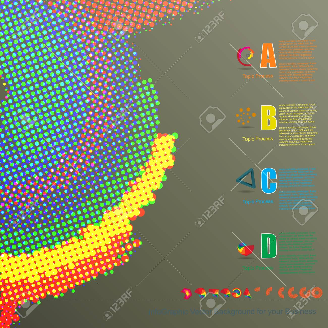 circle background info graphic for business stock photo picture