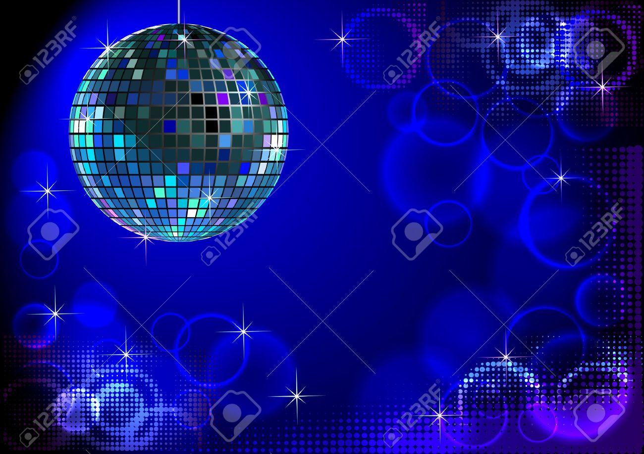 Blue disco backround Stock Vector - 9270489