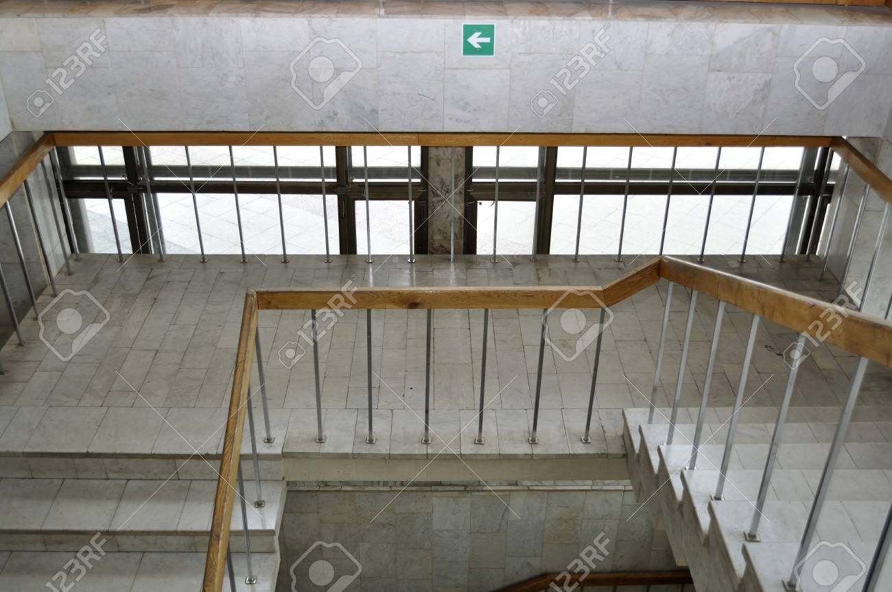 Empty exit stairway from the office building Stock Photo - 21614524