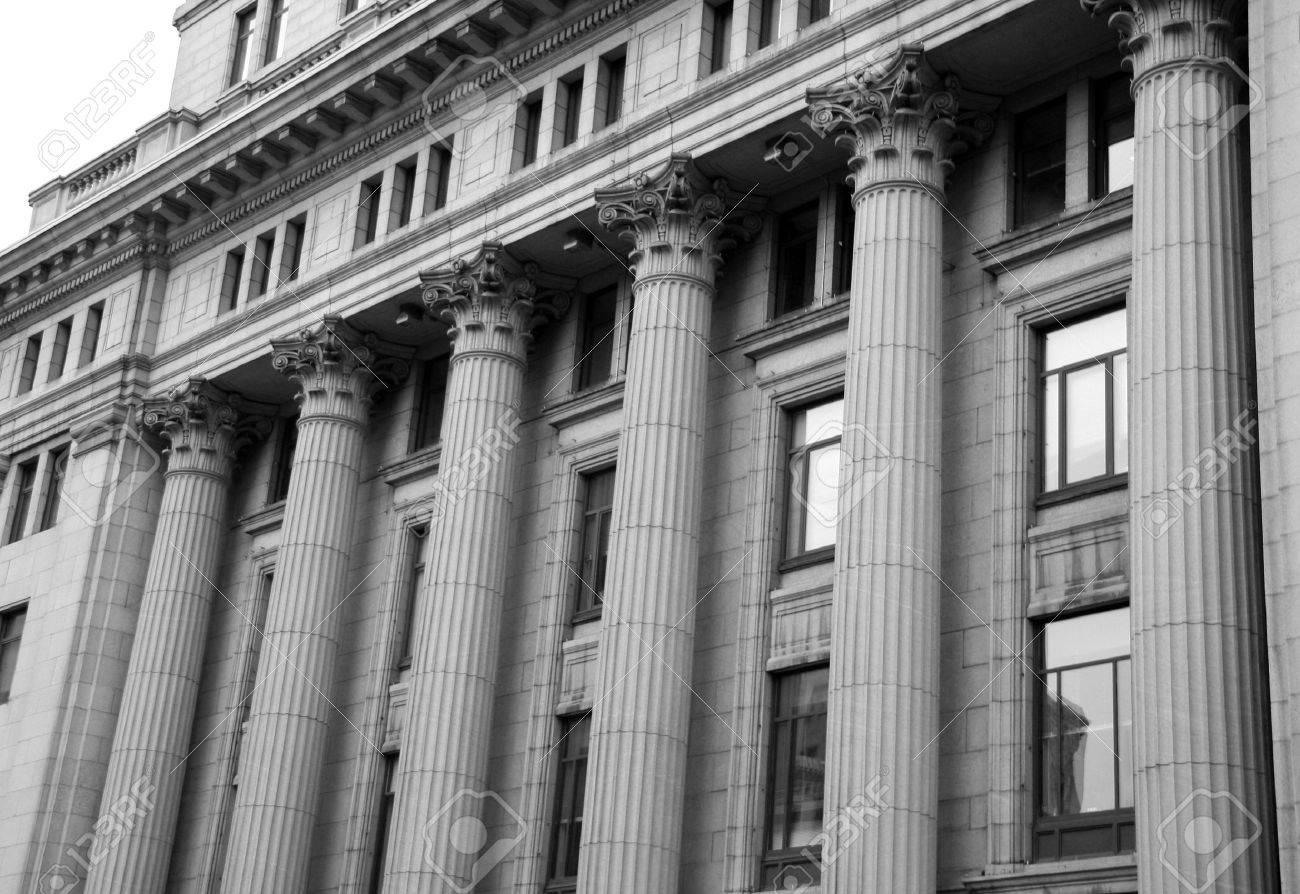 Courthouse Pillars Stock Photo - 573036