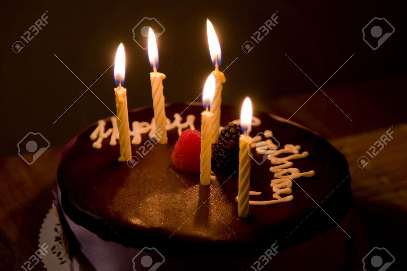 Pleasant Happy Birthday Cake With Burning Candles Stock Photo Picture And Funny Birthday Cards Online Elaedamsfinfo