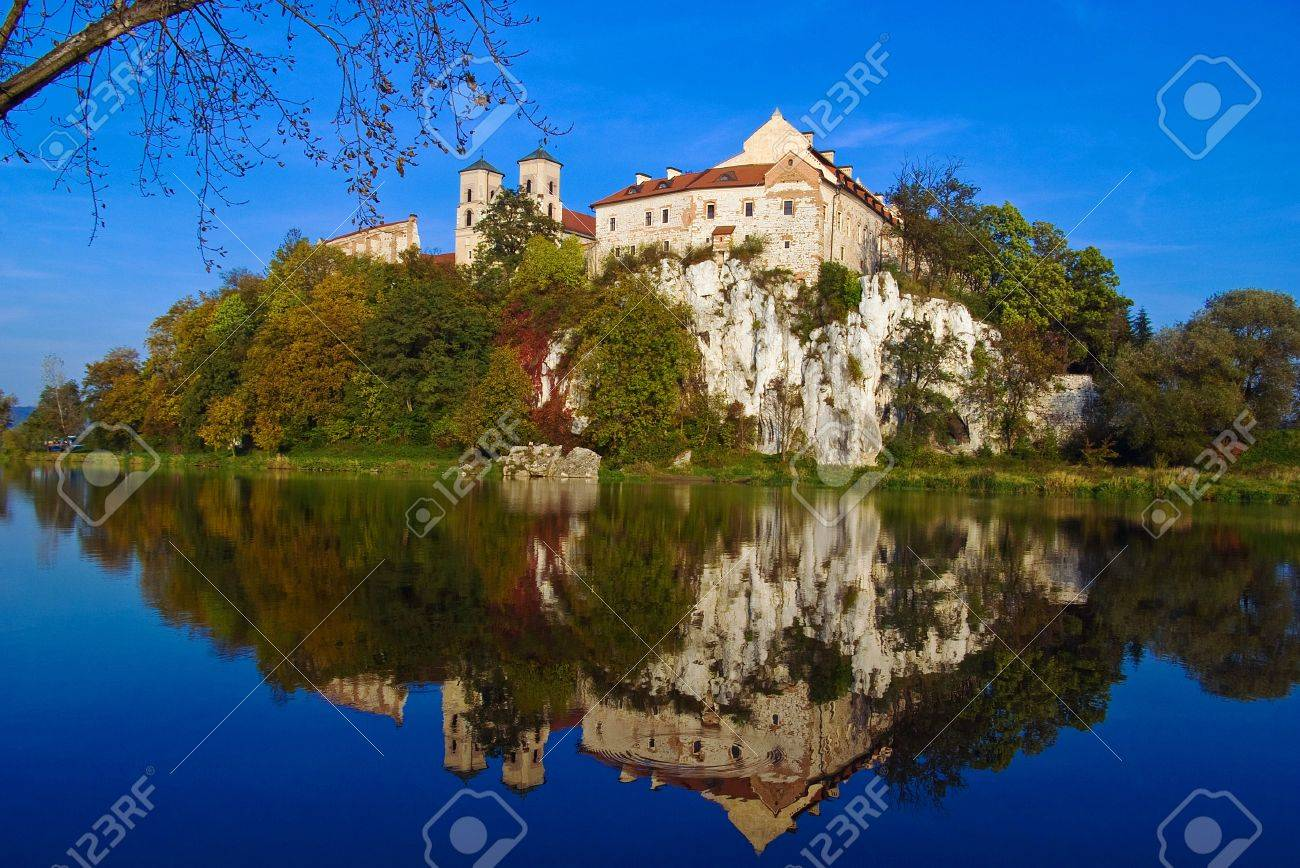 Benedictine Abbey on the rocky hill by the Vistula river in Tyniec near Cracow, Poland Stock Photo - 16483526