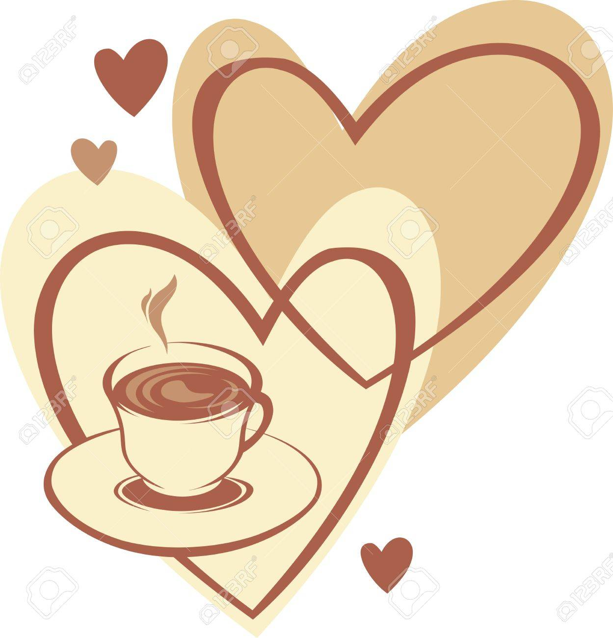 Coffee cup with love Stock Vector - 9652949