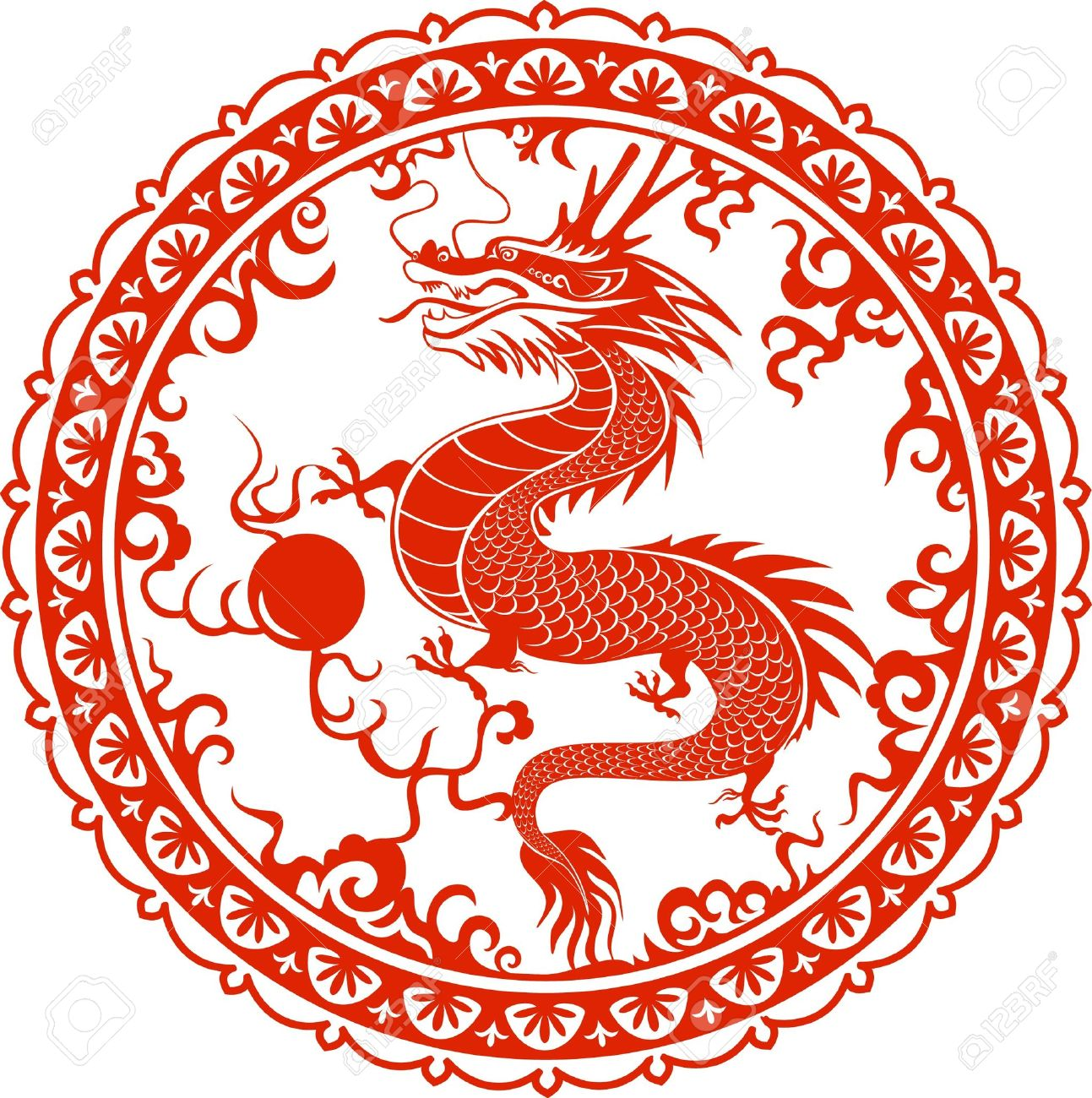 Dragon For The Year 2012 Traditional Chinese Goroscop Symbol