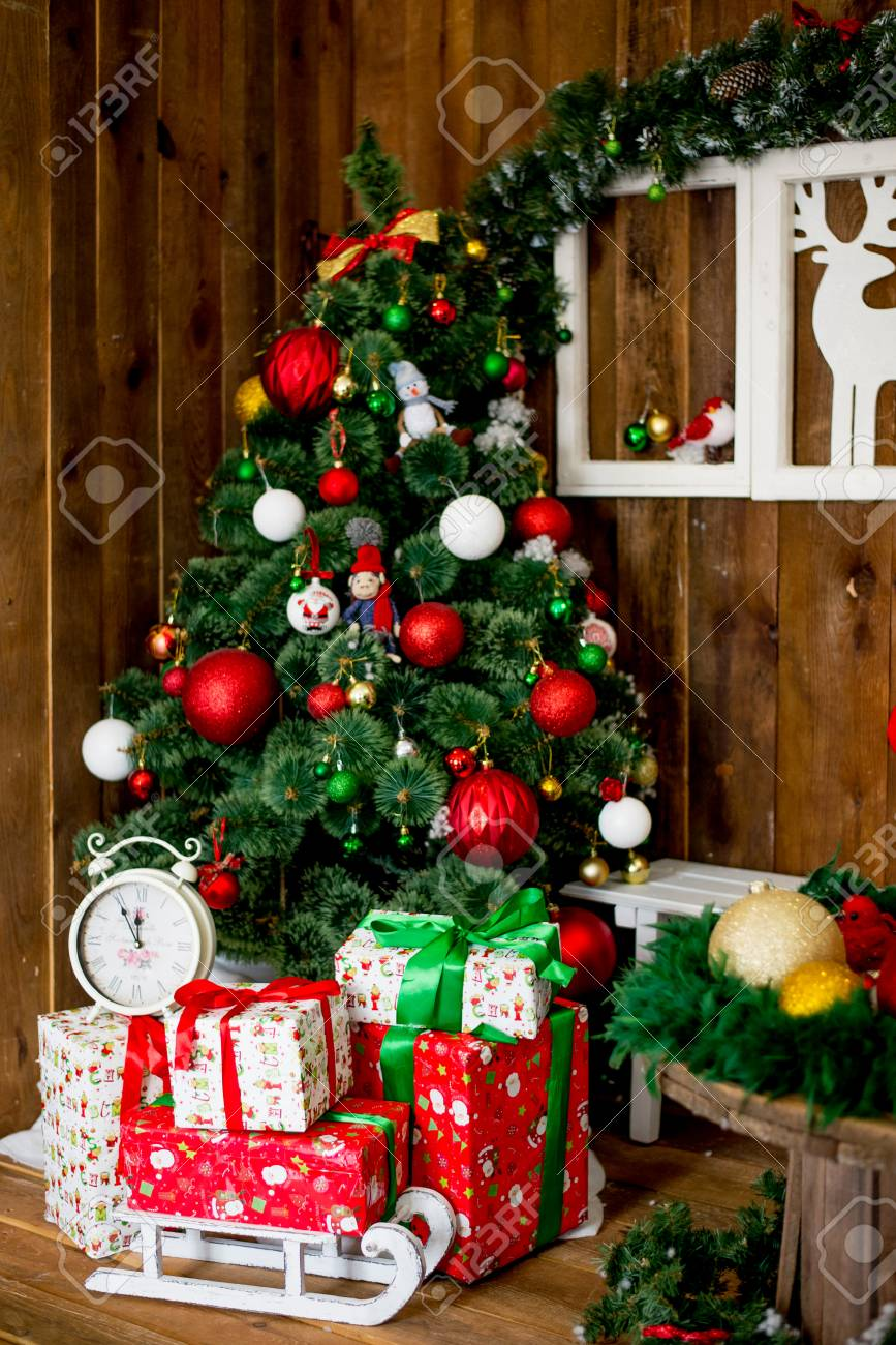 Photo Of Luxury Gift Boxes Under Christmas Tree New Year Home Decorations Wrapping