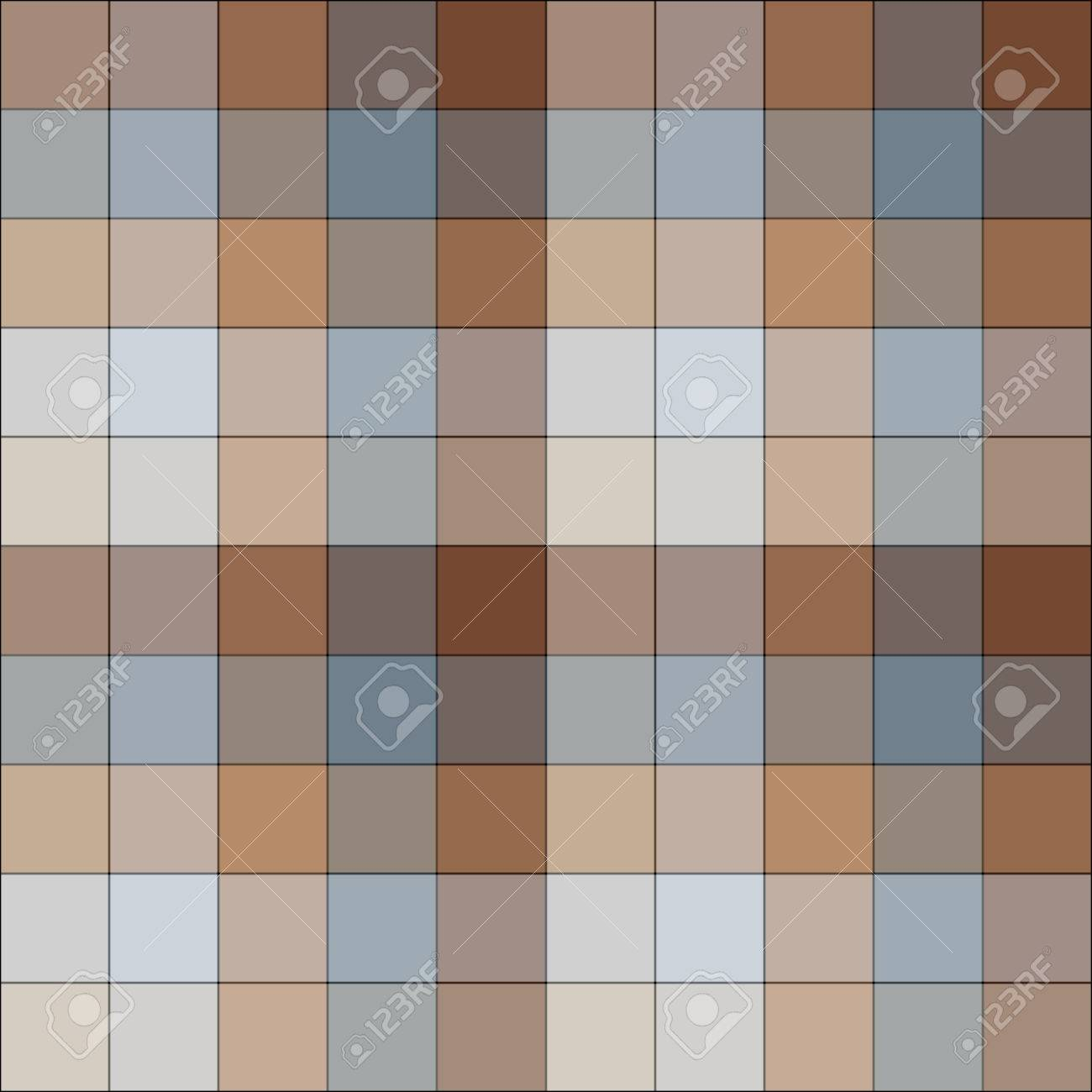 Brown and blue checkered seamless pattern Stock Vector - 4287397