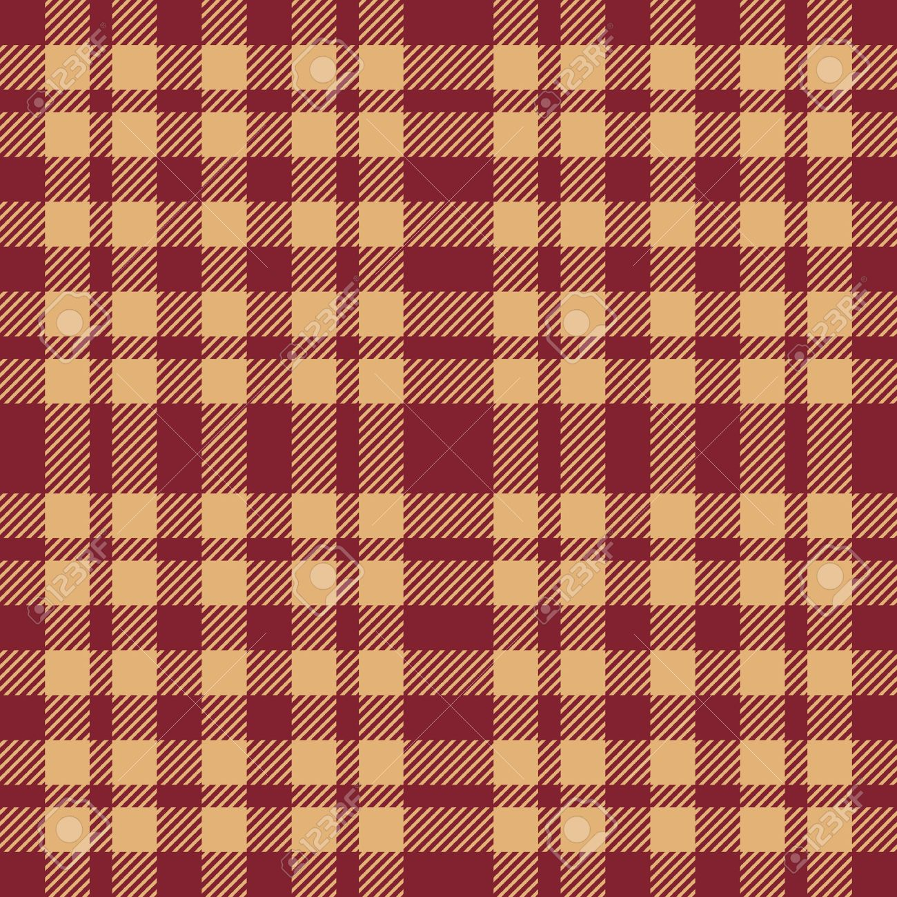 Beige and brown seamless plaid pattern Stock Vector - 4460969