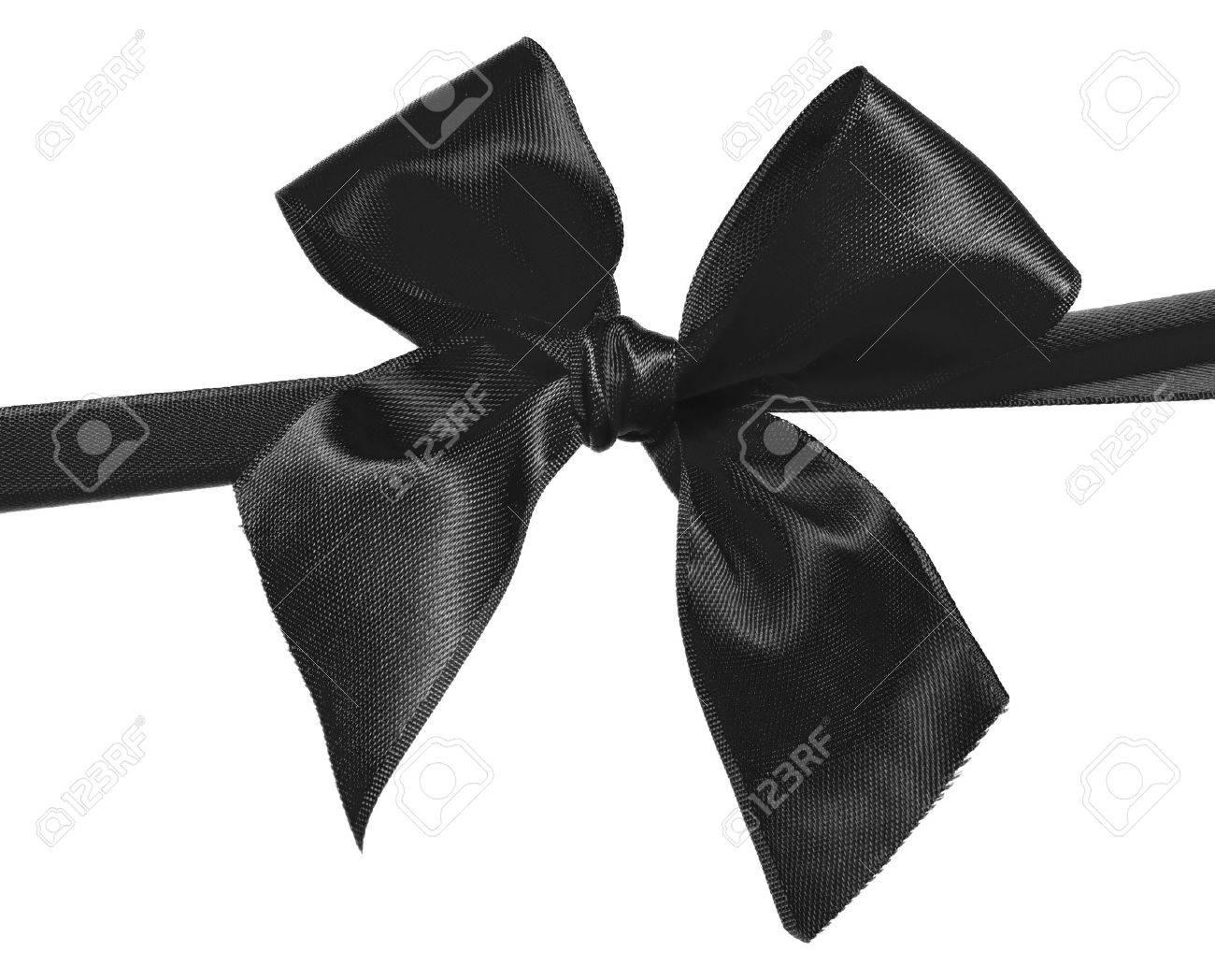 Black Ribbon Bow black ribbon and bow isolated