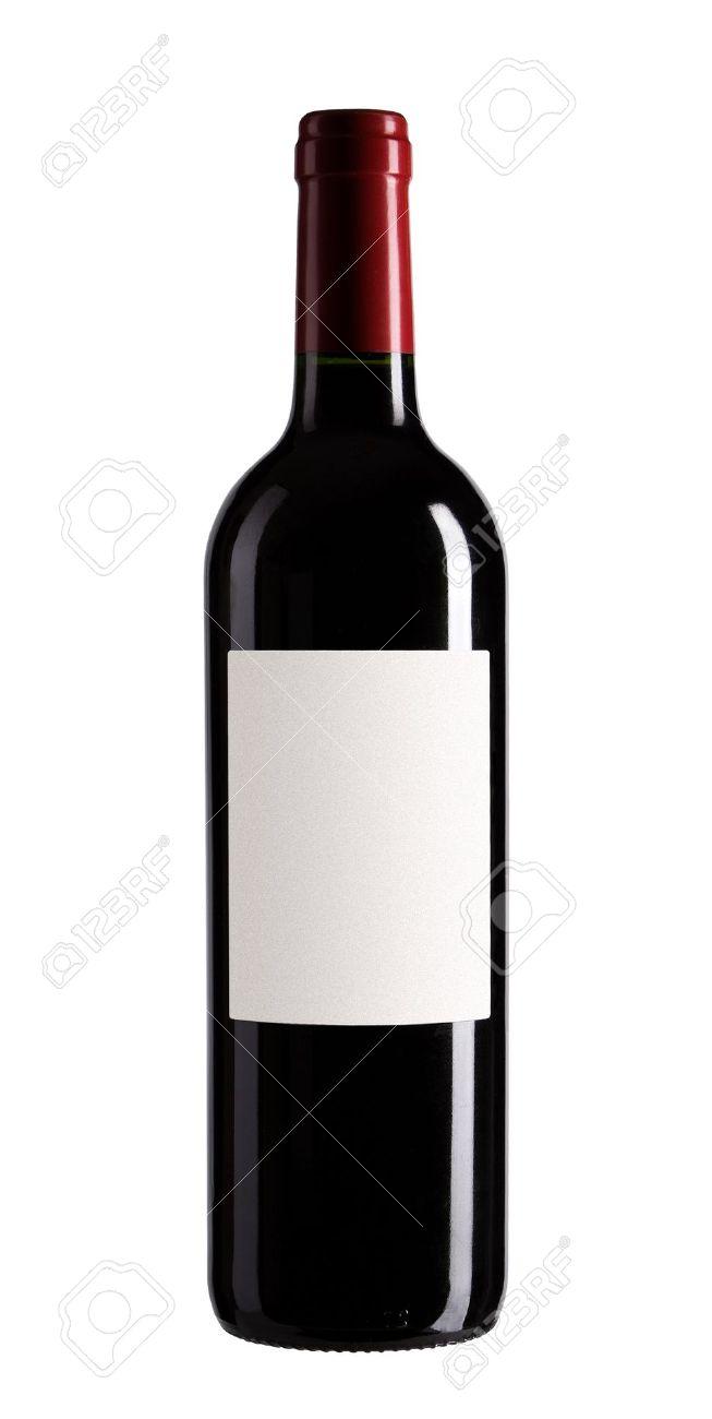 Bouteille De Vin Isol Sur Fond Blanc Banque D Images Et Photos
