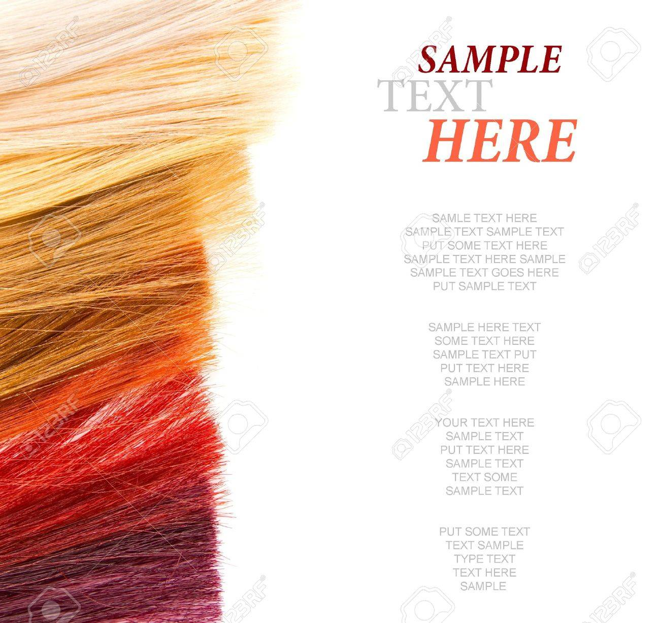 dyed locks of hair on white Stock Photo - 11578169