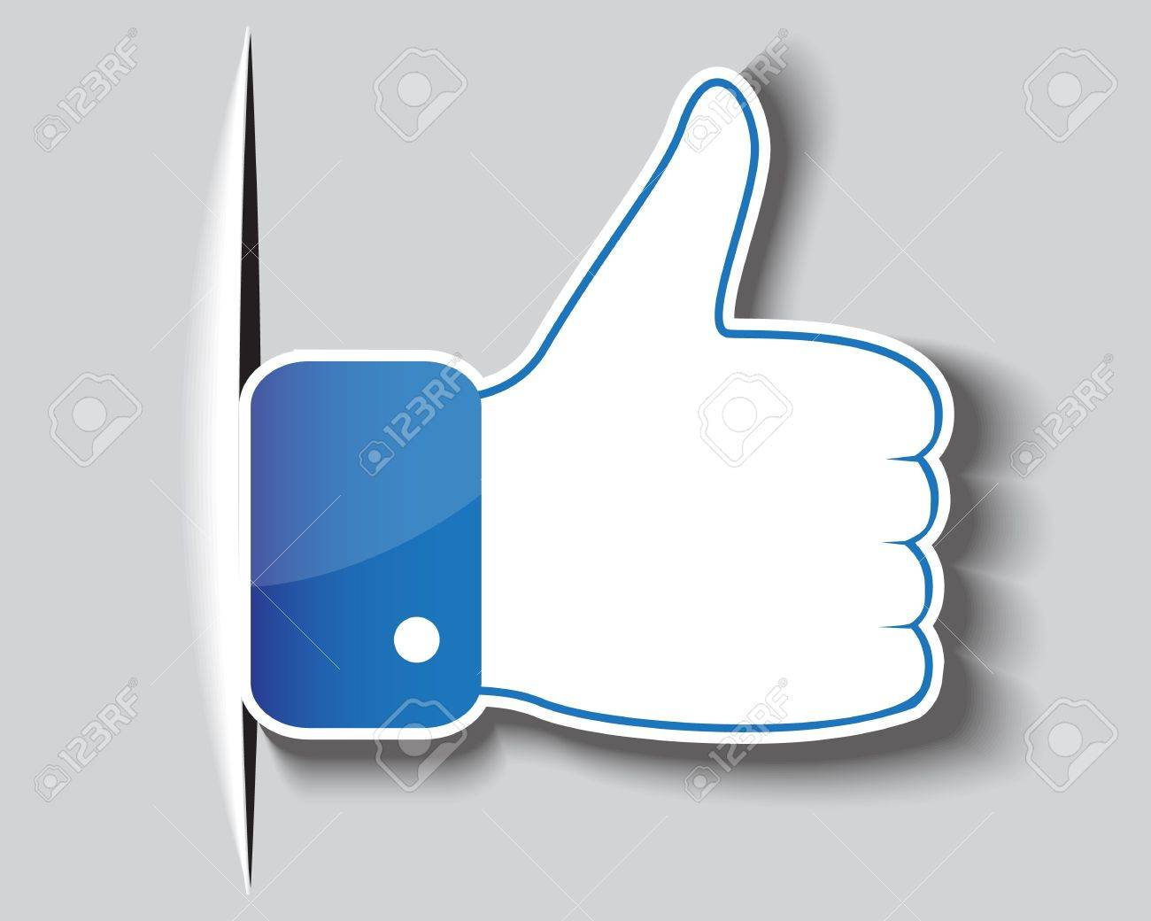 Paper approved symbol of a hand with a clenched fist and protruding thumb Stock Vector - 17140601