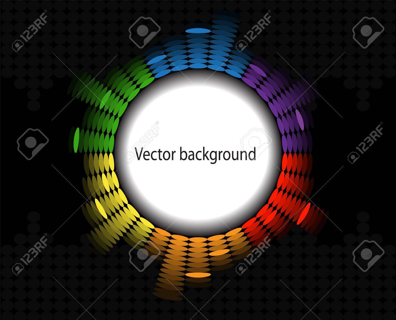 frame in the form of a round brilliant equalizer on black background Stock Vector - 18519484