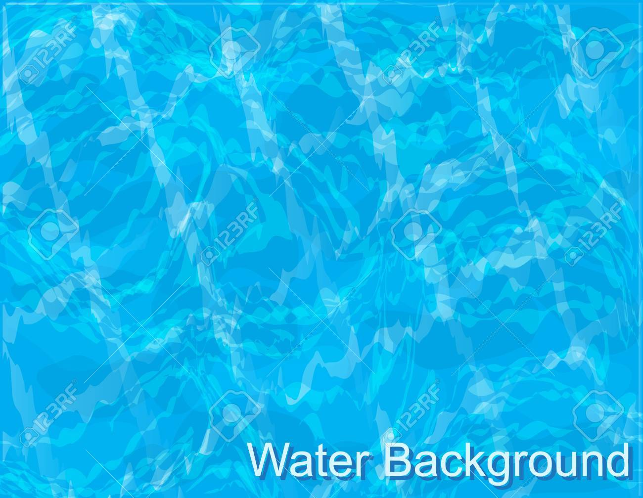 background-blue water with ripples in the pool - 18690782