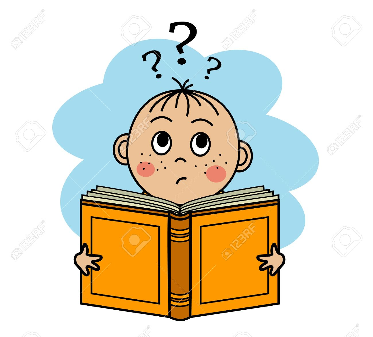 Image result for boy not understanding book clipart