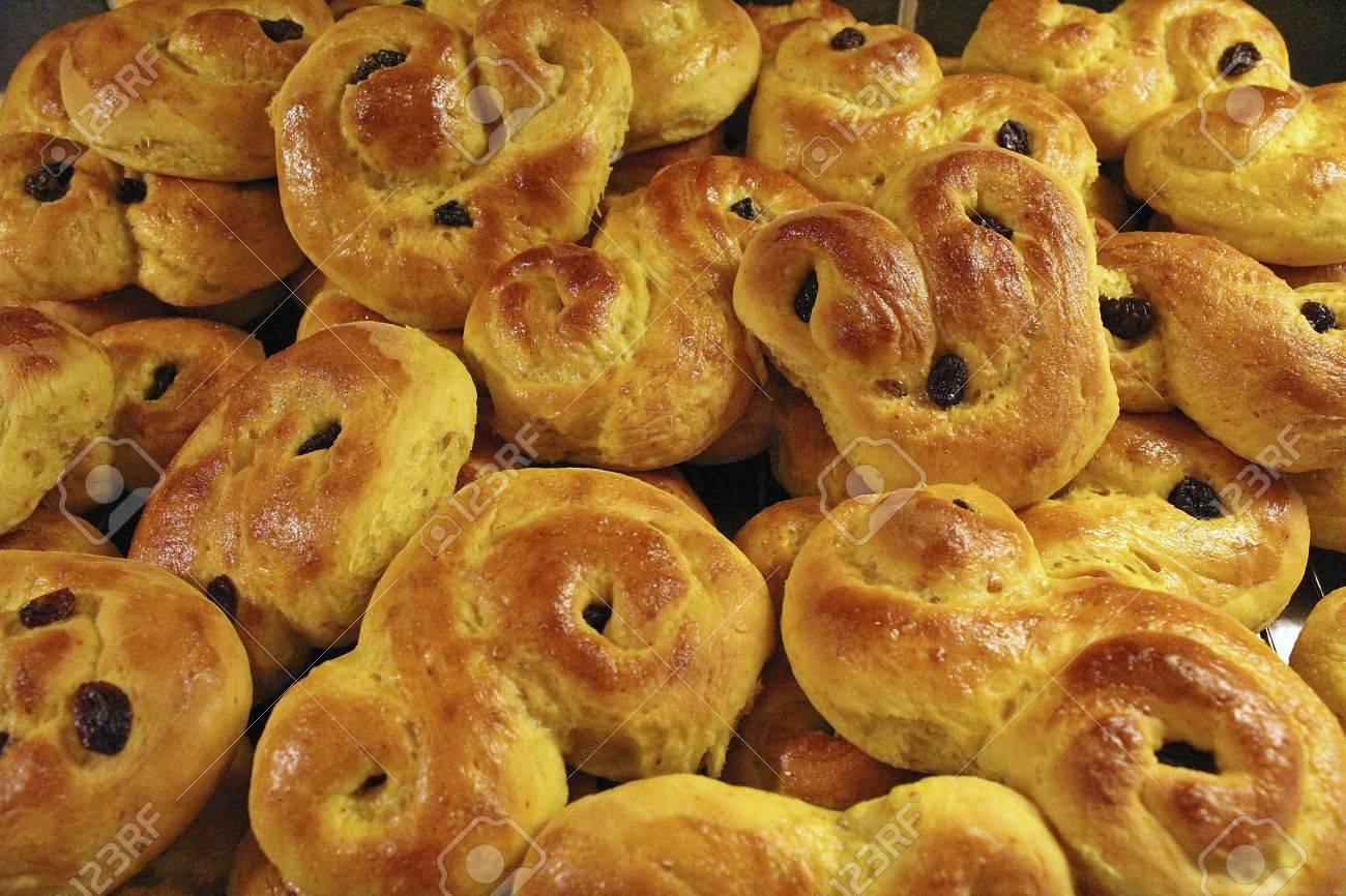homemade saffron buns Stock Photo - 24265068
