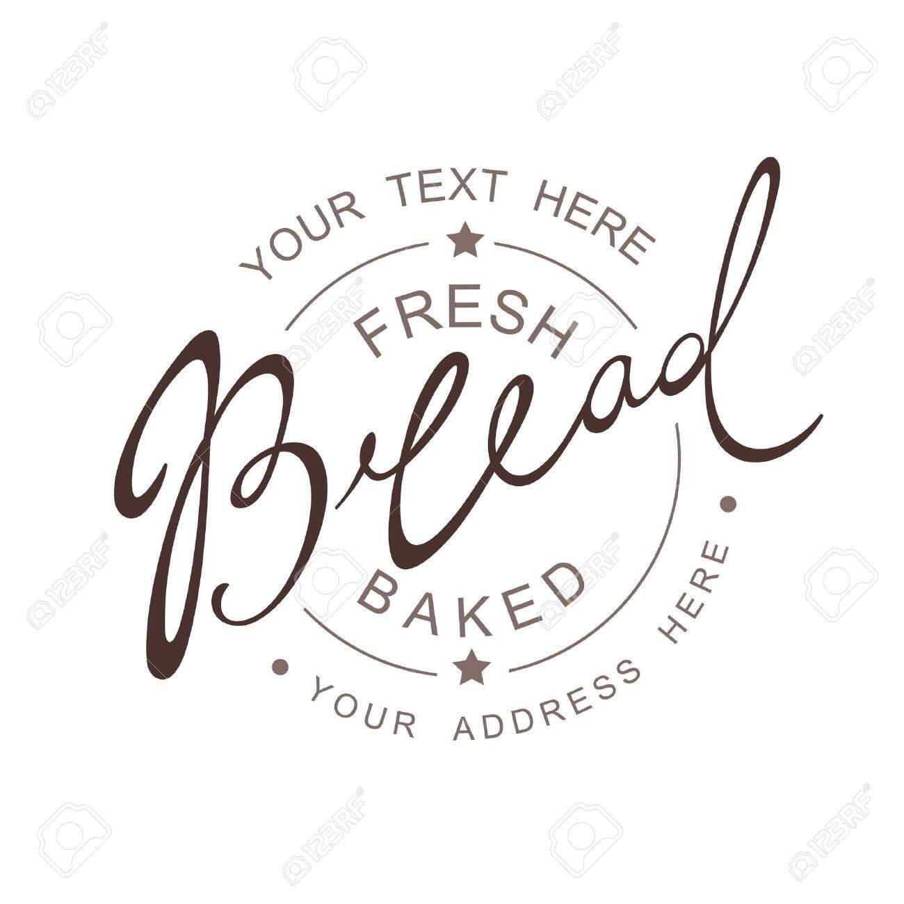Bread Calligraphic handwritten seamless patern - 21932522