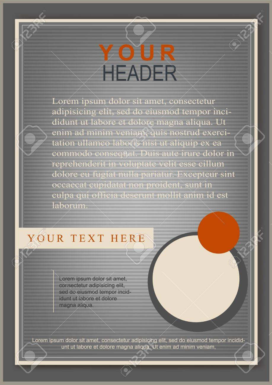 Classic flayer or cover template grey - 21932567