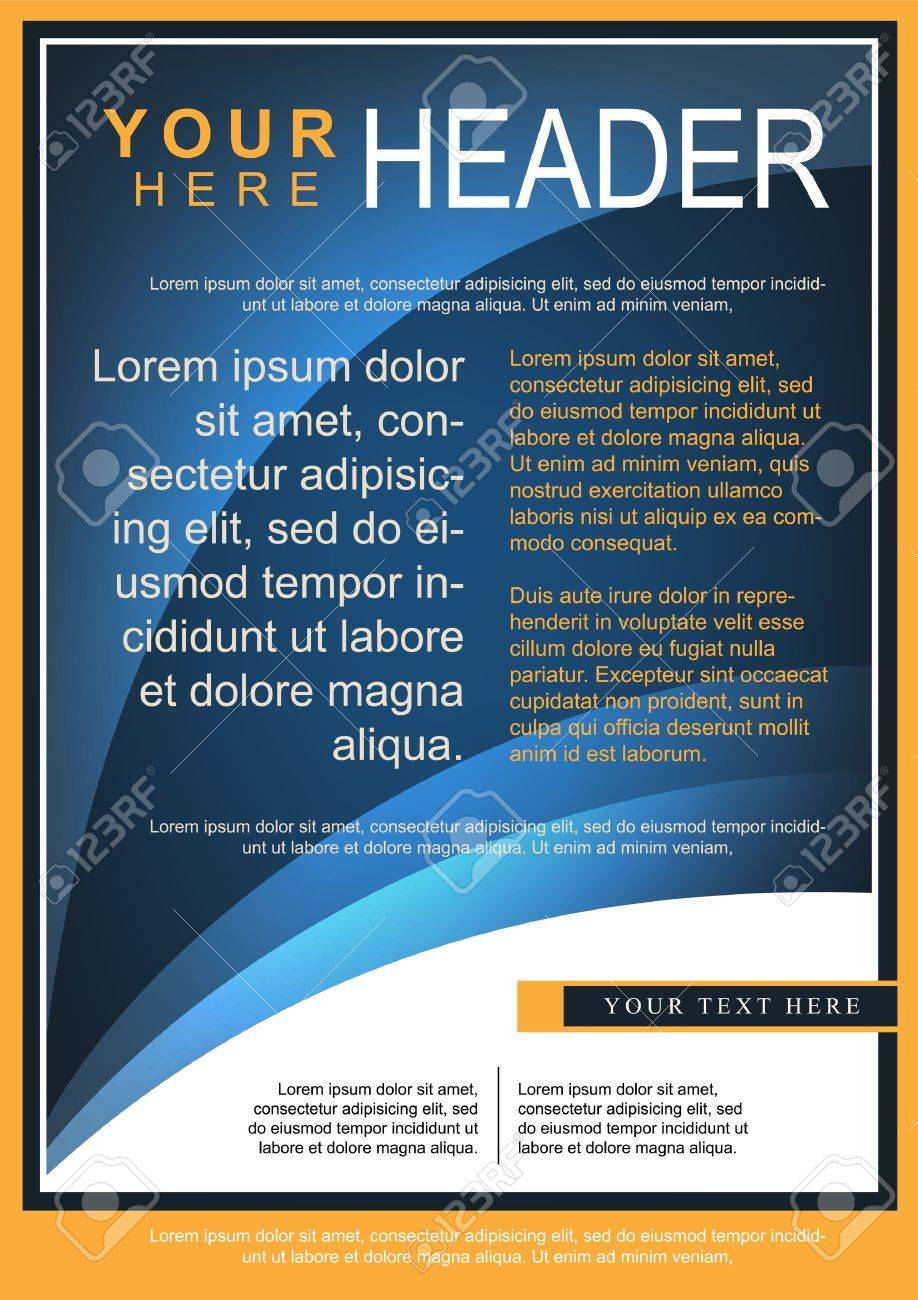 Abstract Blue Flyer or Cover Design - 21932576