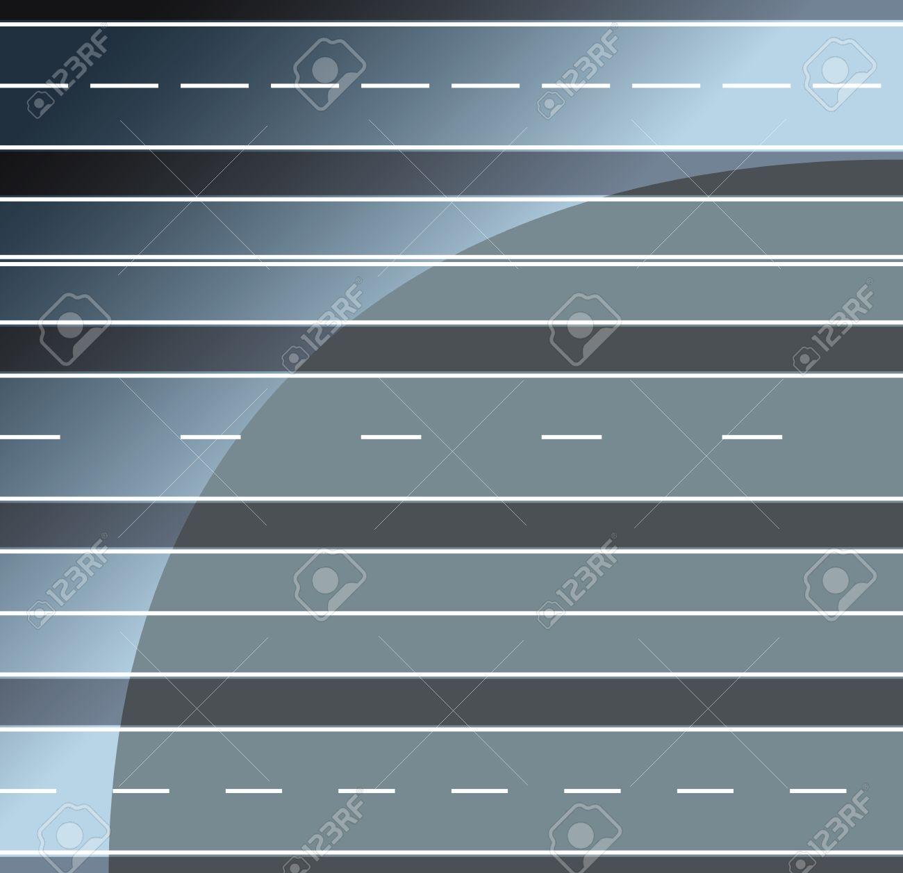 Roads horizontal seamless - 22719368