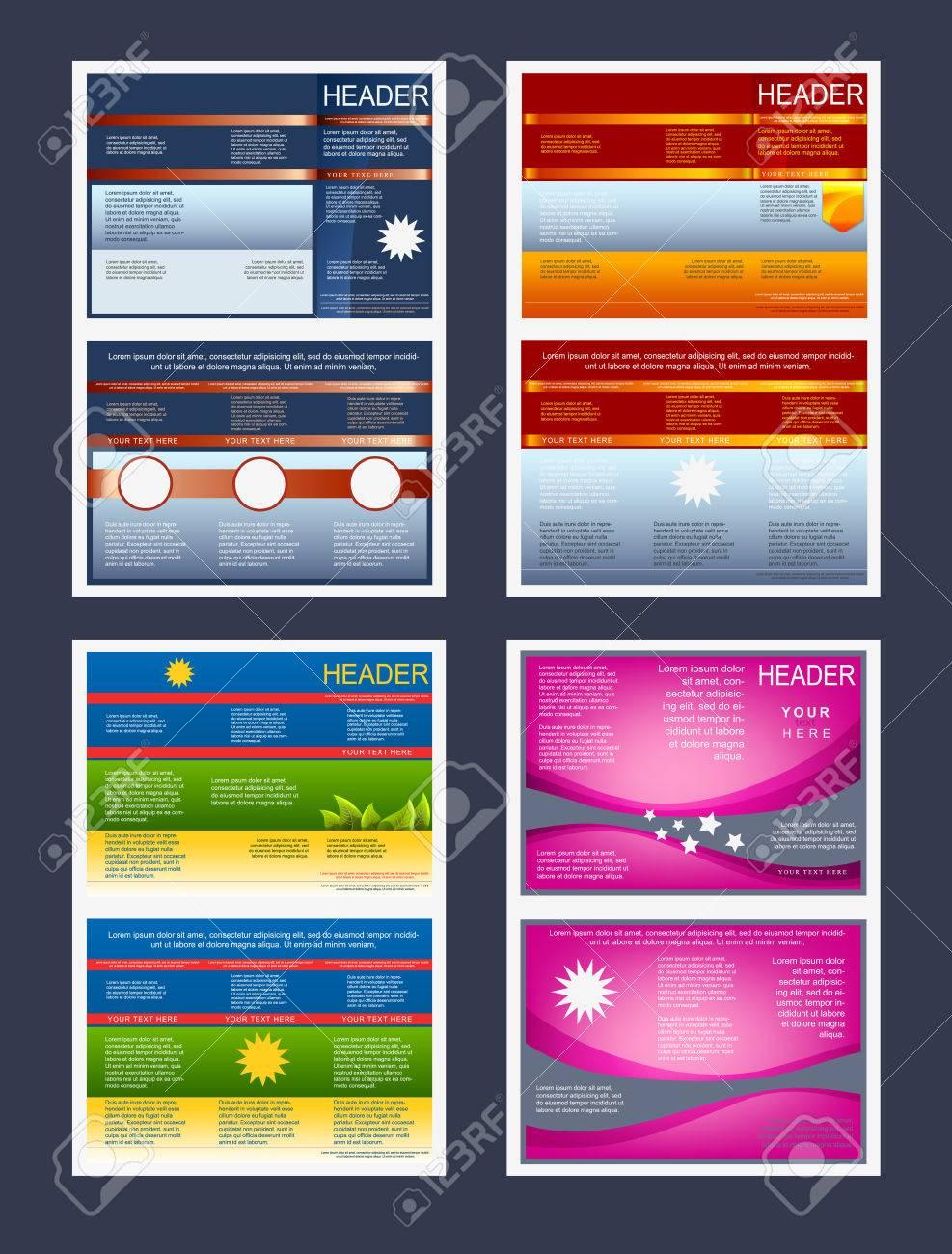 Collection of tri-fold flyers or cover templates - 23662300
