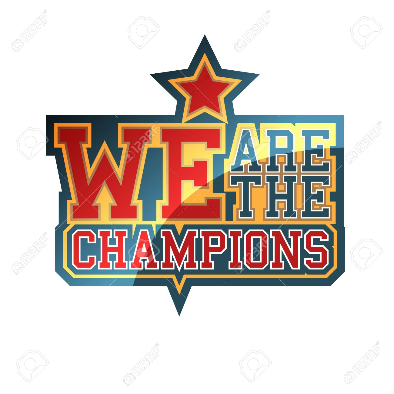 We are the champions sign royalty free cliparts vectors and stock vector we are the champions sign altavistaventures Image collections