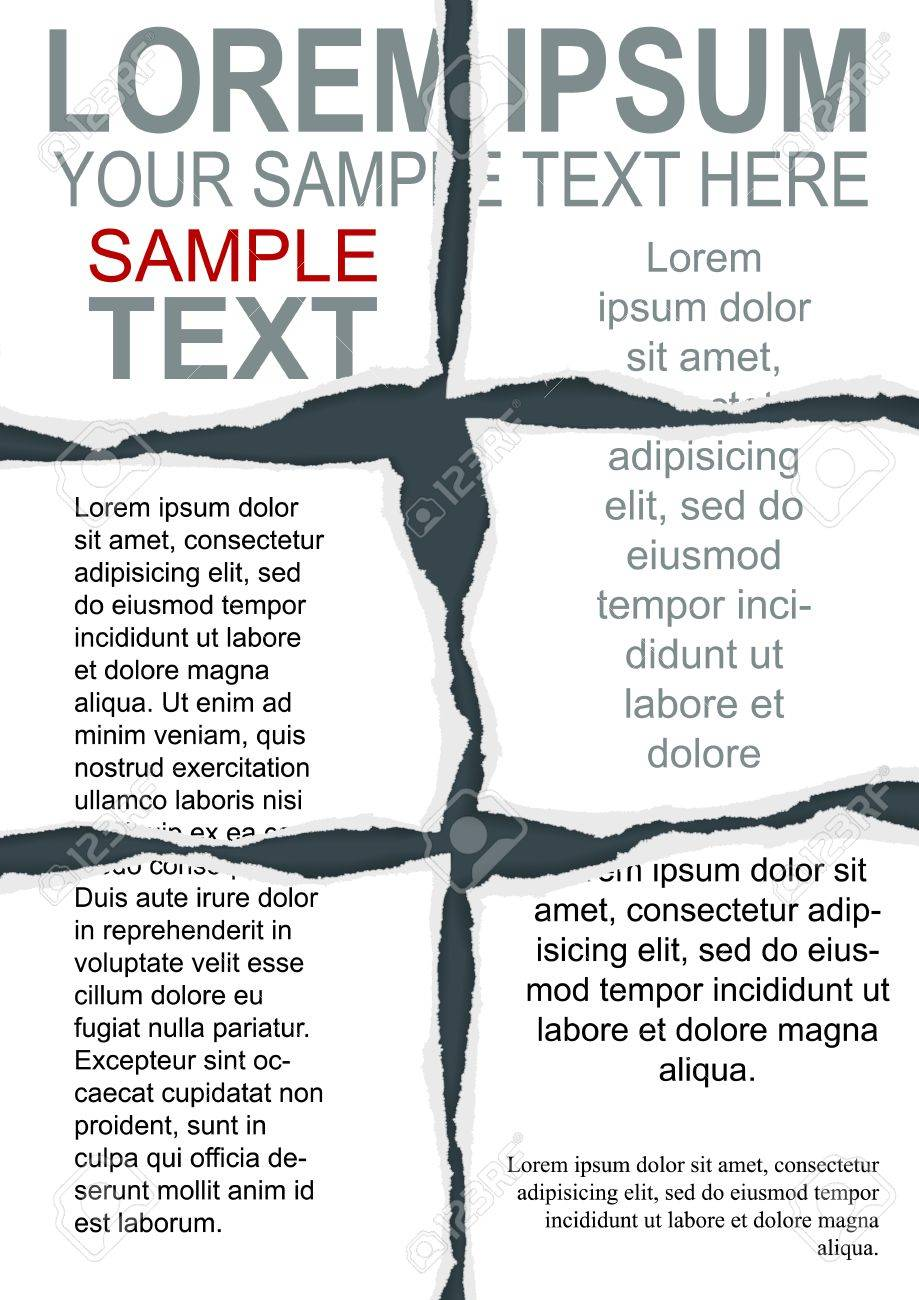 Torn Flyer Template with clipping mask - 31775331