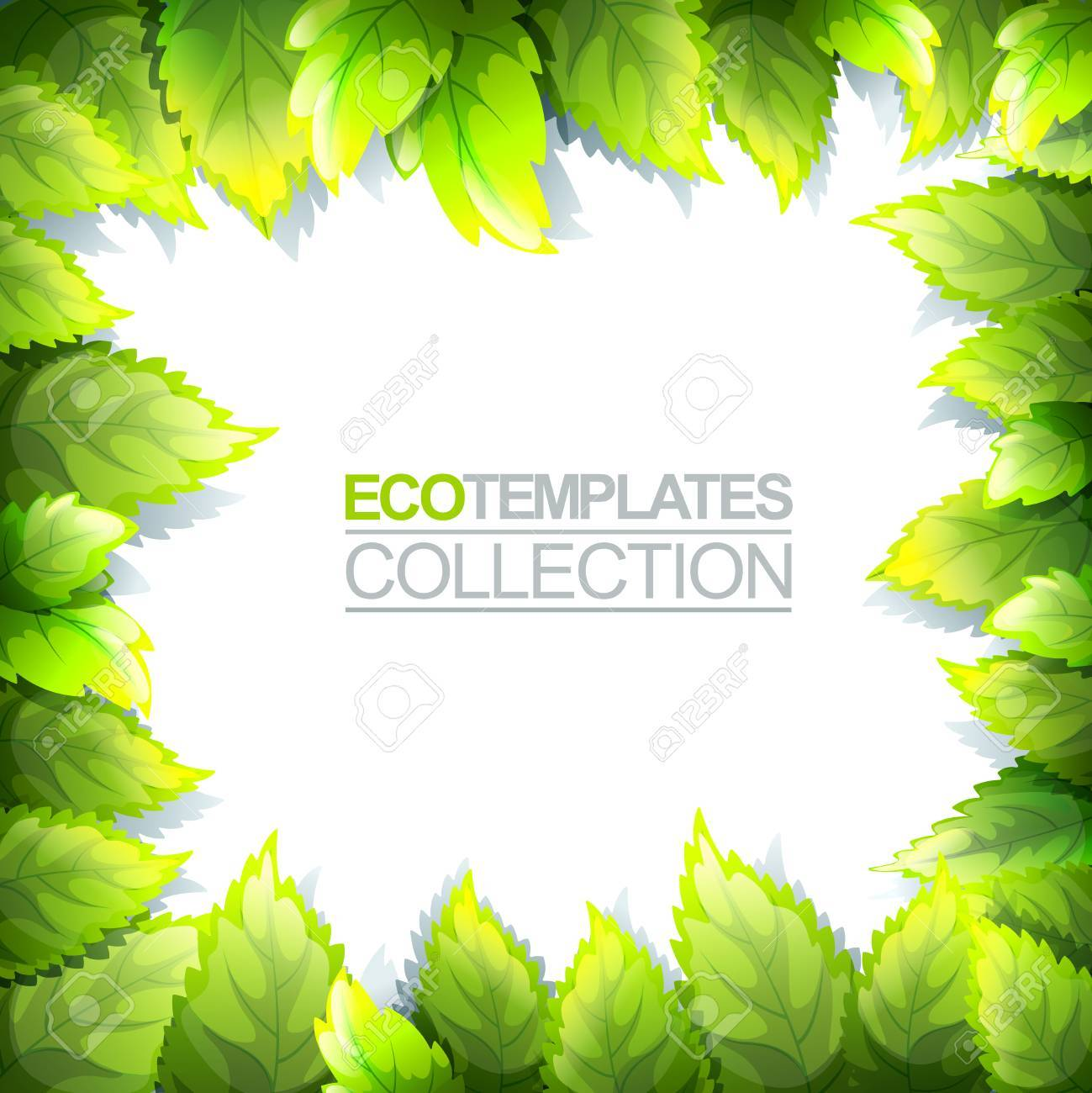 Green Bright Editable Template For Eco, Natural, Spring And Fresh ...