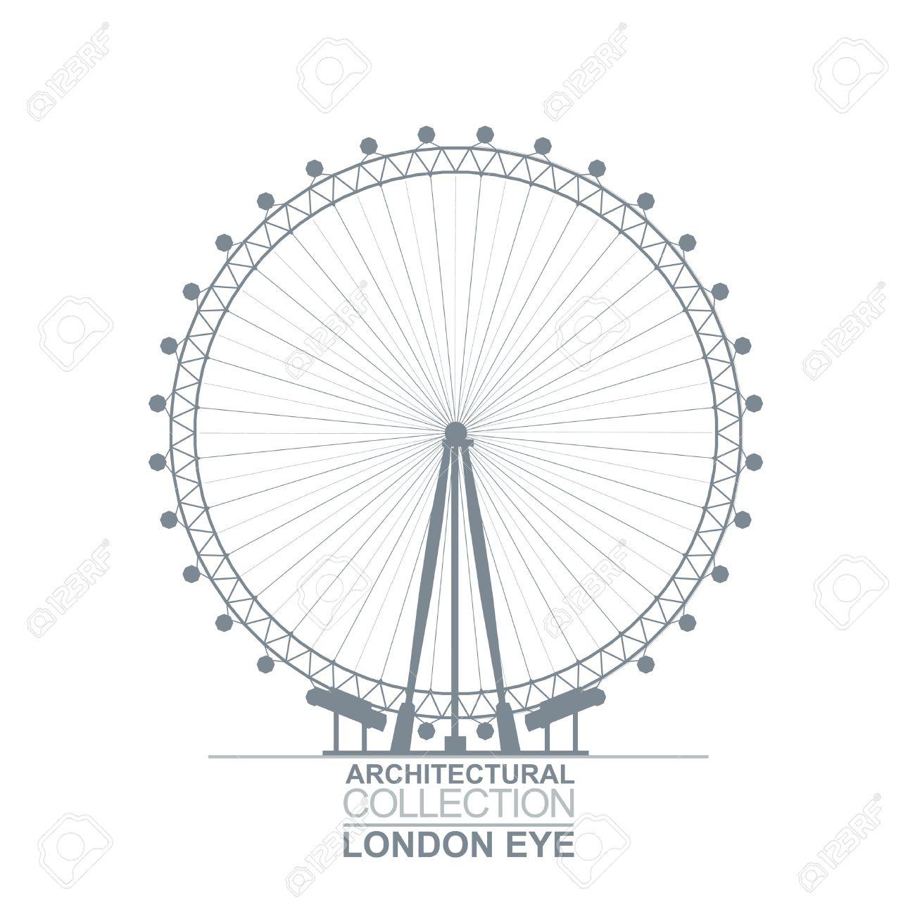 Detail Quality Architectural London Eye Wheel Silhouette - 53103261