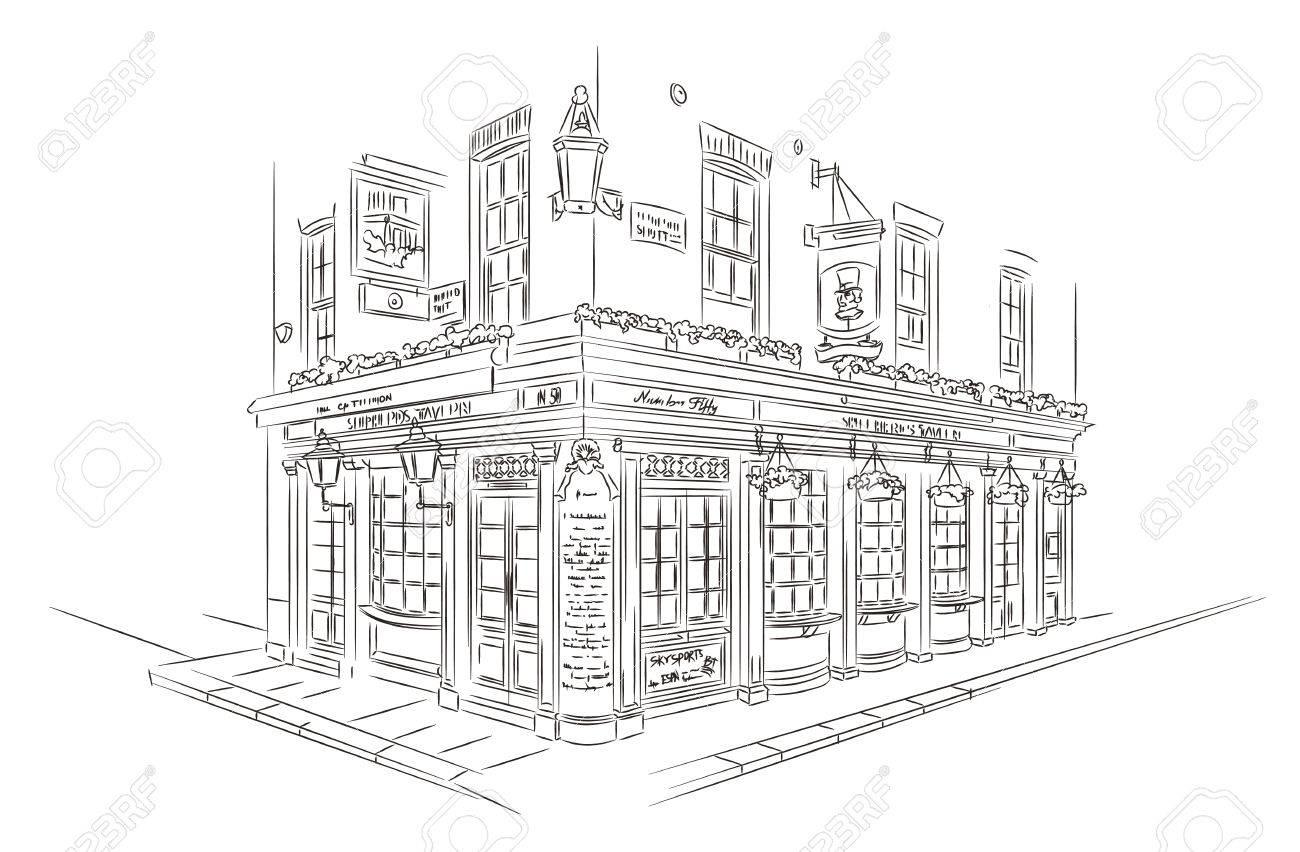 Style Sketch. Pub, London - 53103262
