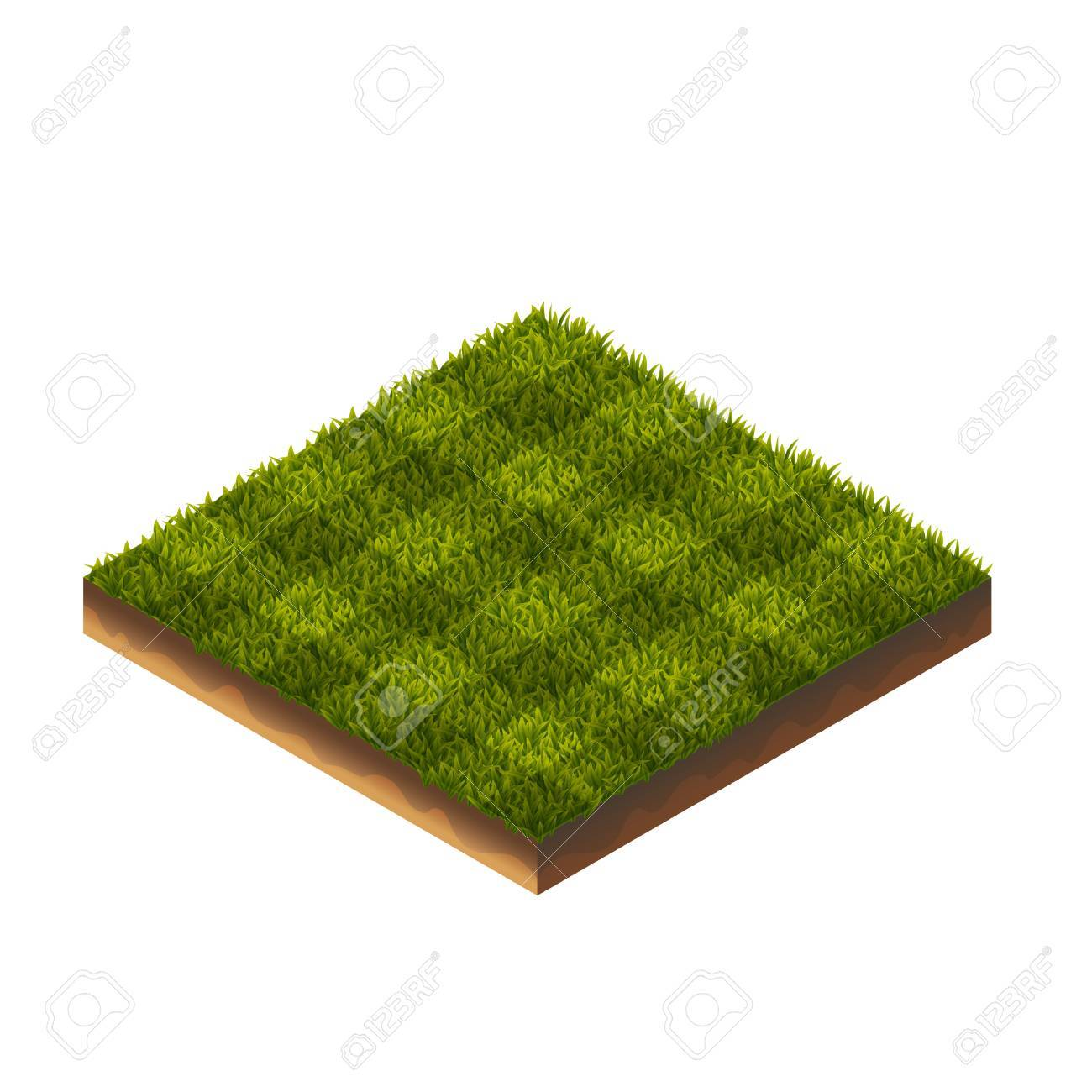Isometric Vector Illustration Of Soccer Field Green Grass For Web, Print, Mobile and GUI - 56302211