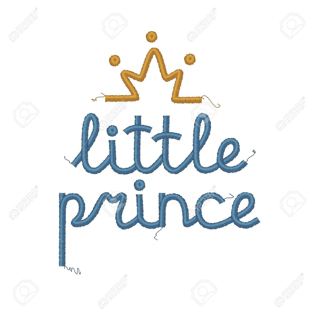 Pequeño Príncipe Bordado Decoración. Ilustraciones Vectoriales, Clip ...